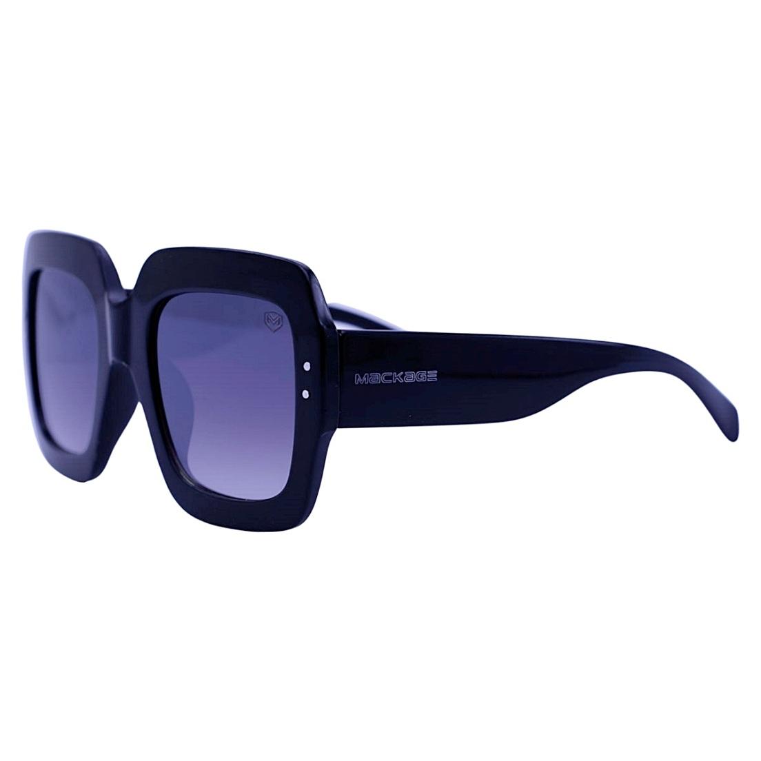 Óculos De Sol Mackage Feminino Acetato Oversize Quadrado - Preto