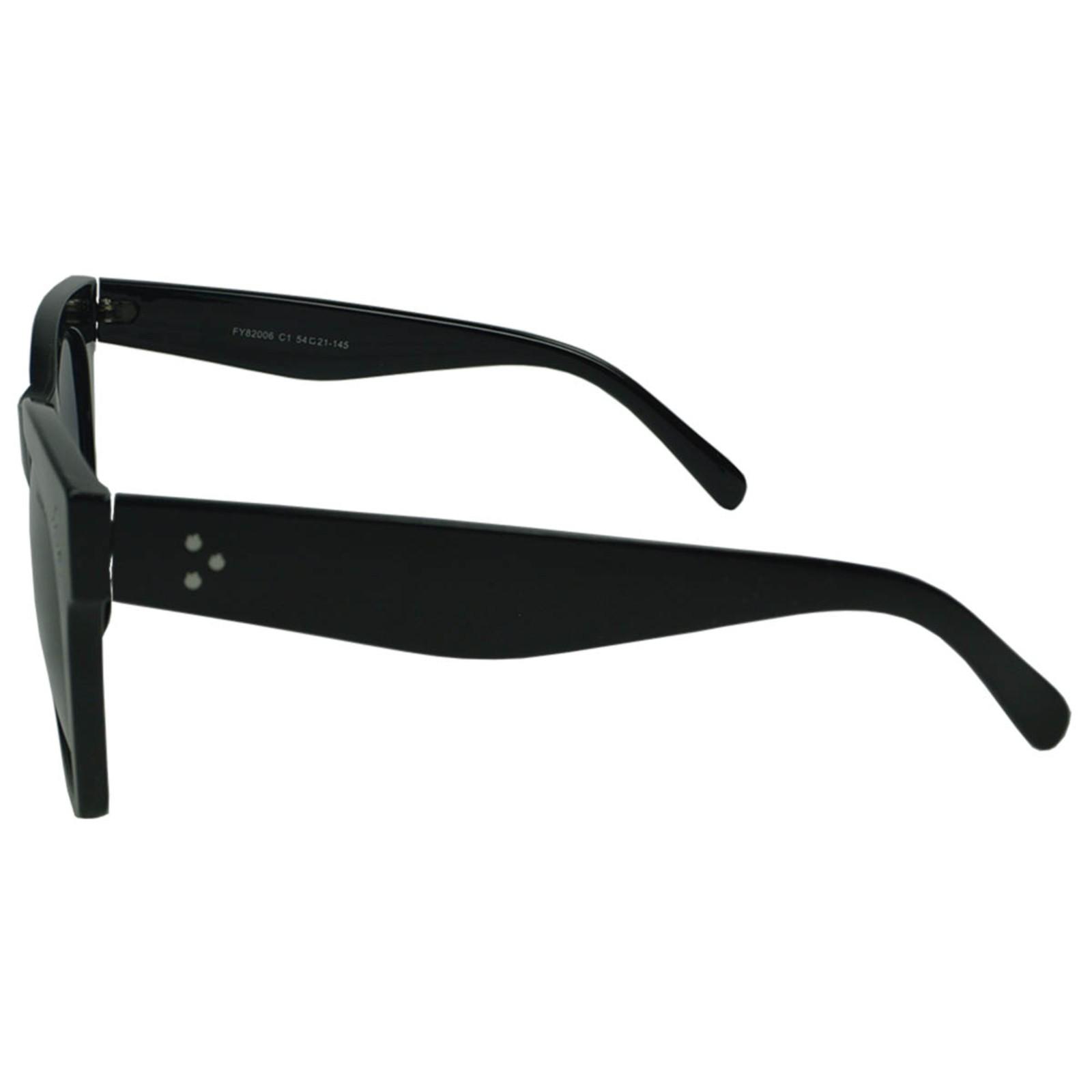 Óculos De Sol Mackage Feminino Acetato Oversize Quadrado Retrô - Preto