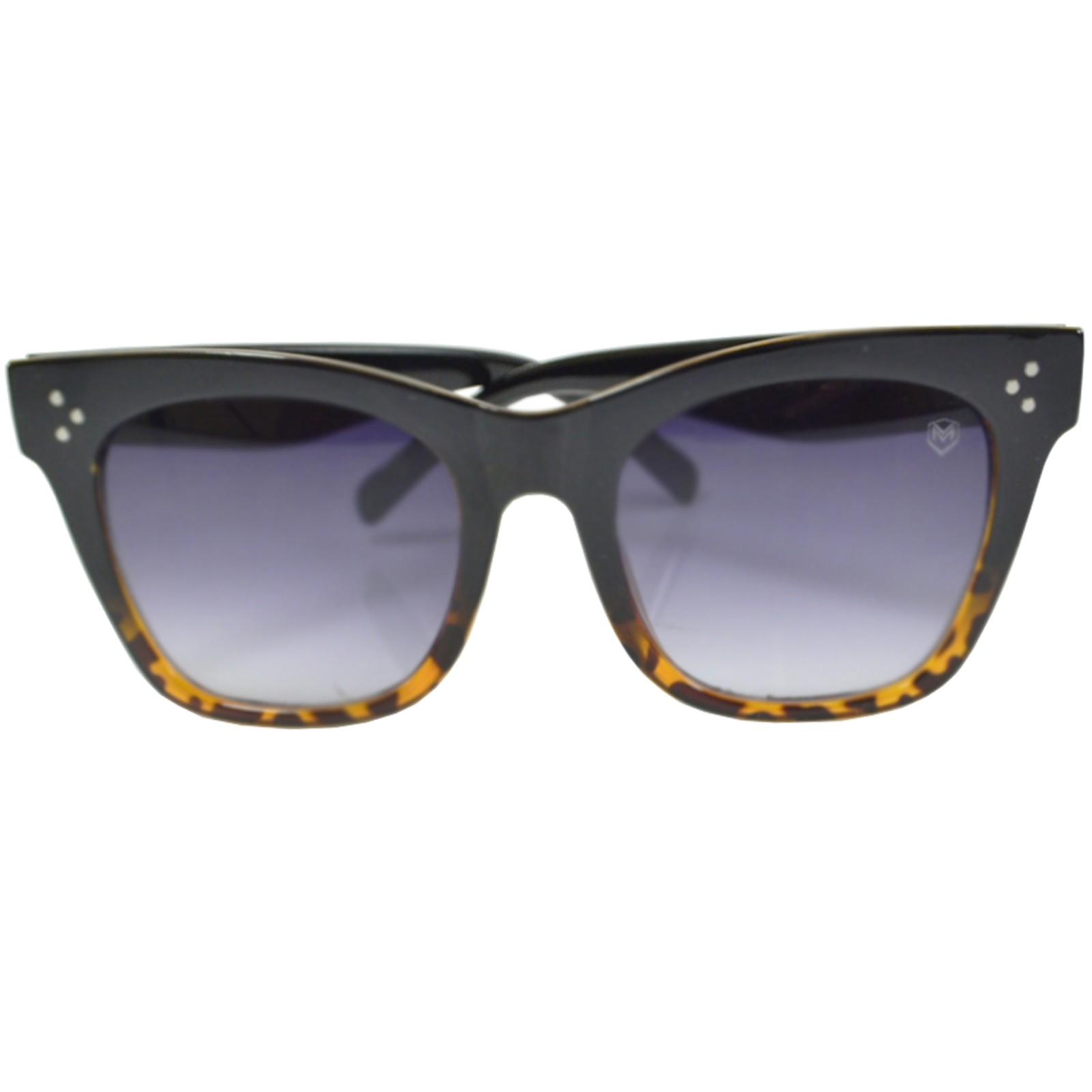 Óculos De Sol Mackage Feminino Acetato Oversize Quadrado Retrô - Preto Tarta