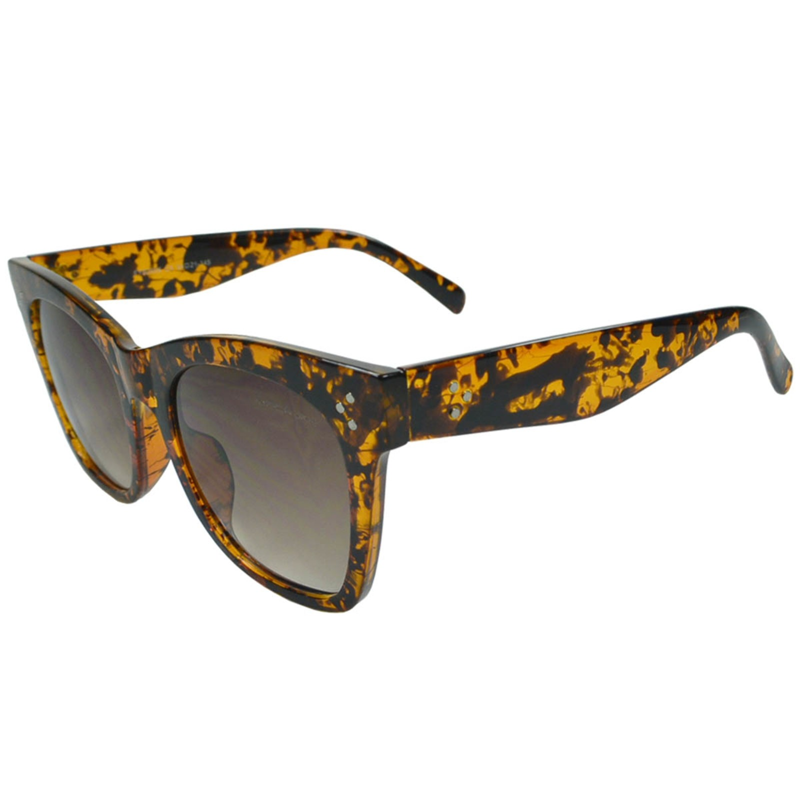 Óculos De Sol Mackage Feminino Acetato Oversize Quadrado Retrô - Tarta