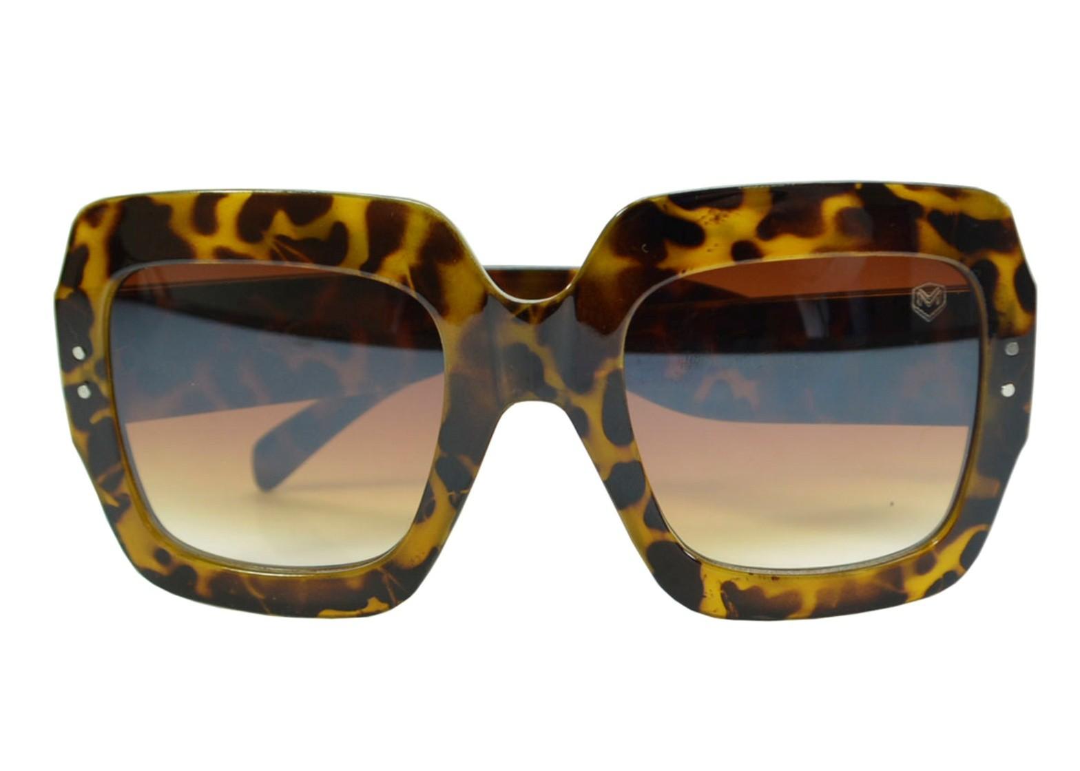 Óculos De Sol Mackage Feminino Acetato Oversize Quadrado - Tartaruga