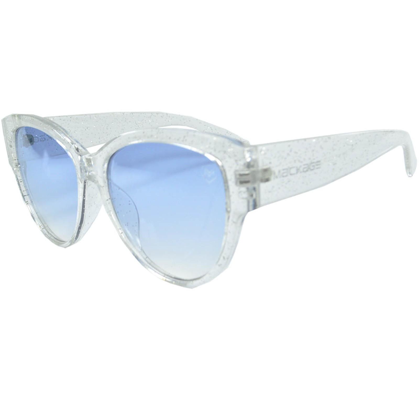 Óculos De Sol Mackage Feminino Acetato Redondo Jacko Feminino - Cristal