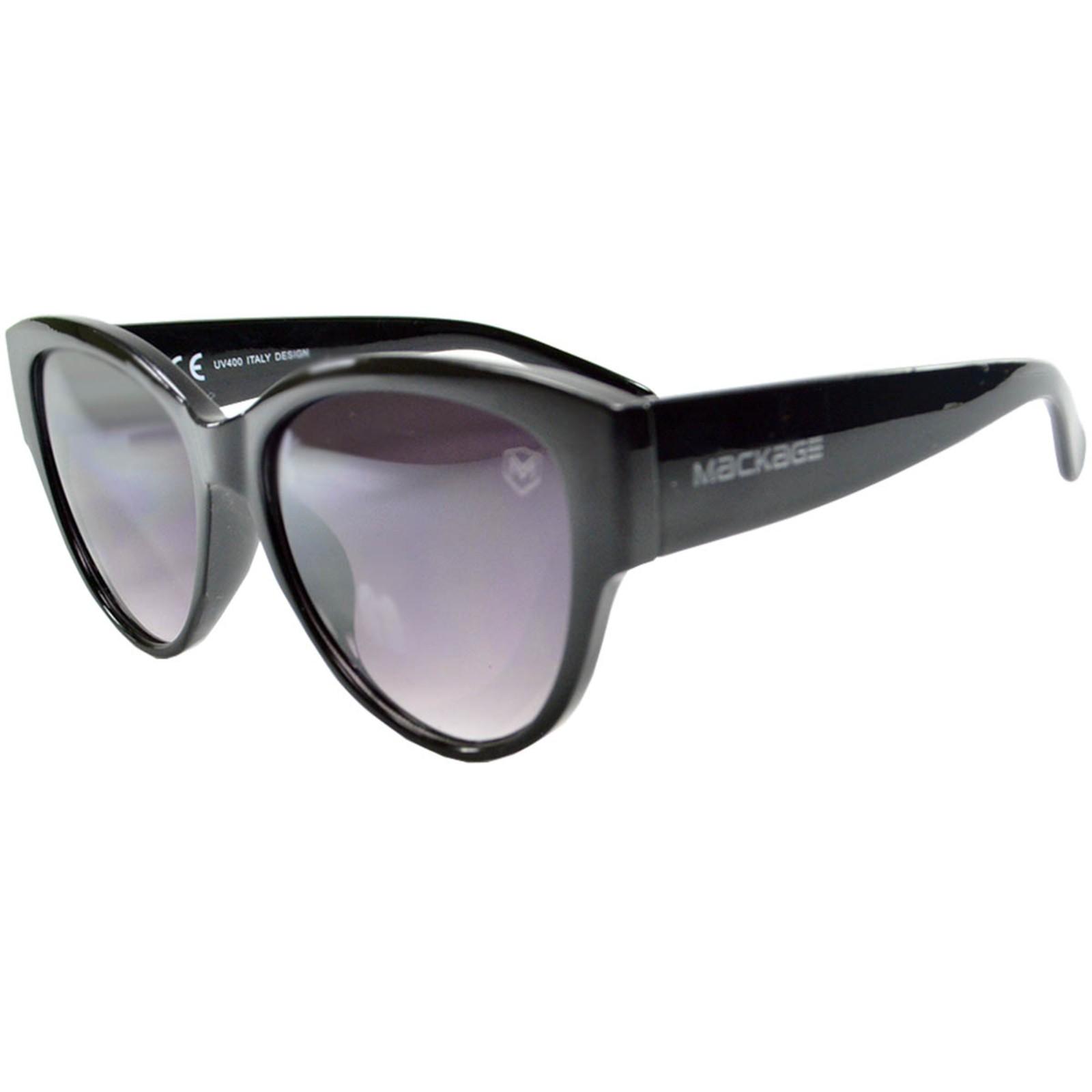 Óculos De Sol Mackage Feminino Acetato Redondo Jacko Retro Feminino - Preto