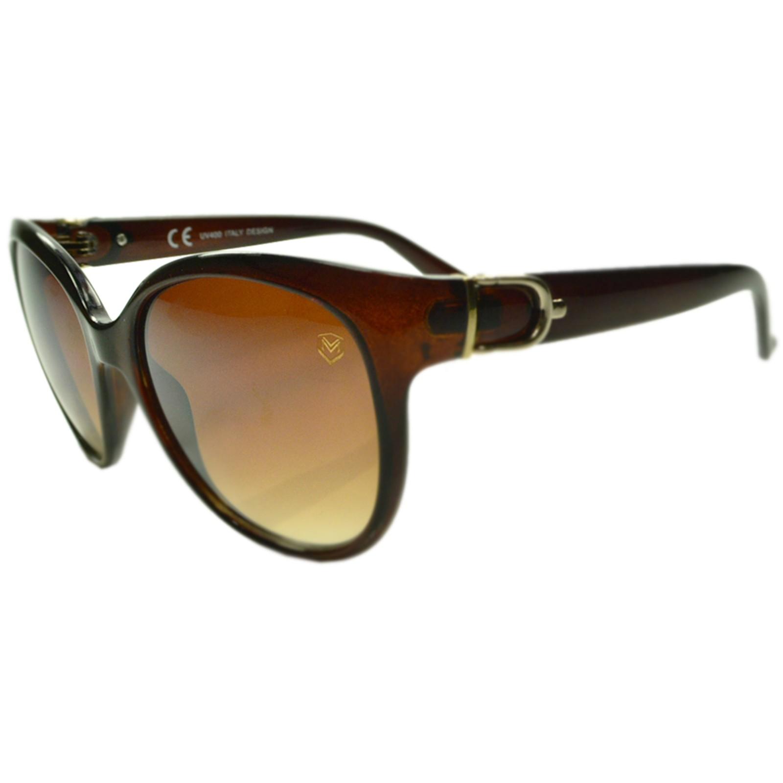 Óculos De Sol Mackage Feminino Acetato Redondo - Marrom