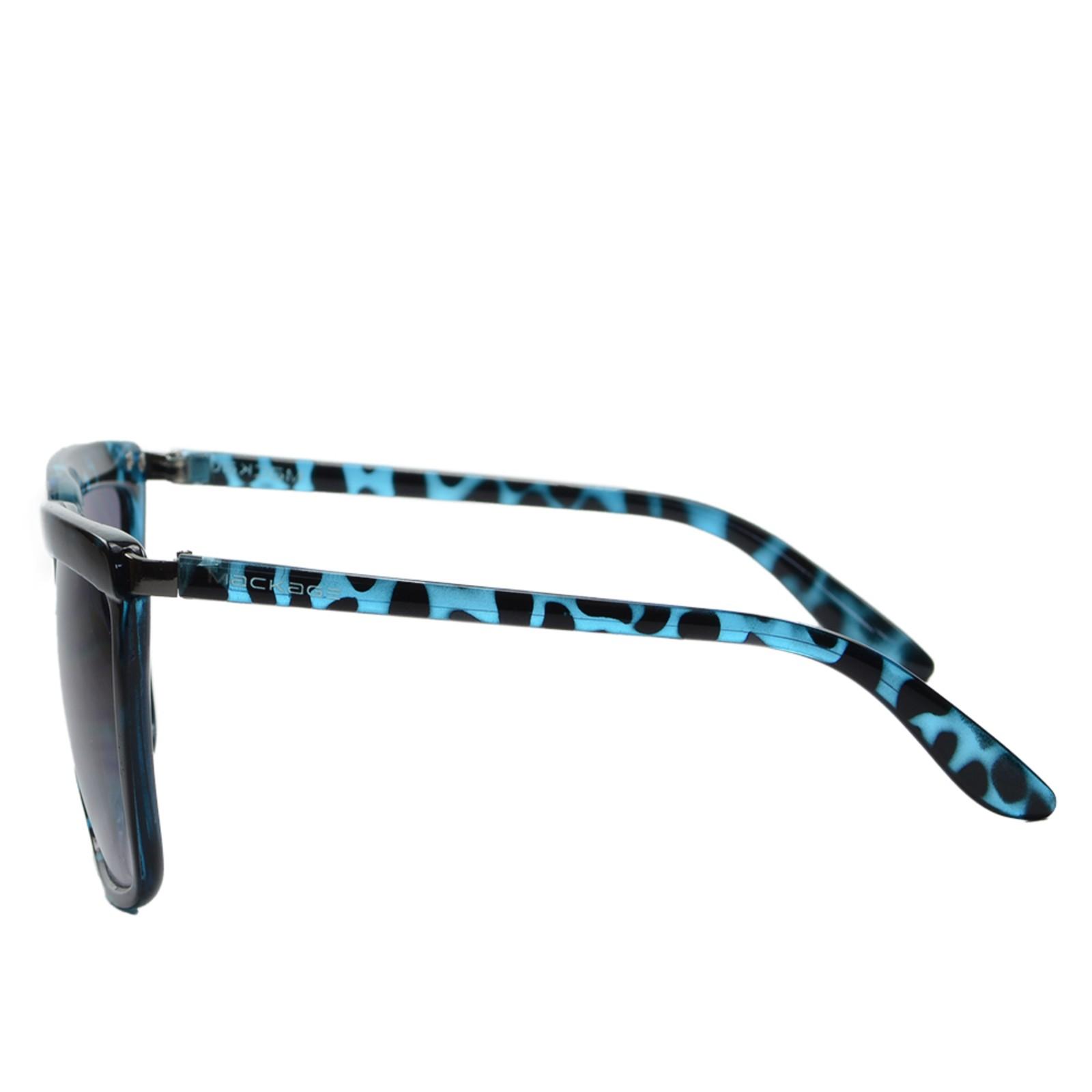 Óculos de Sol Mackage Feminino Acetato Retangular - Azul Efeito Tartaruga