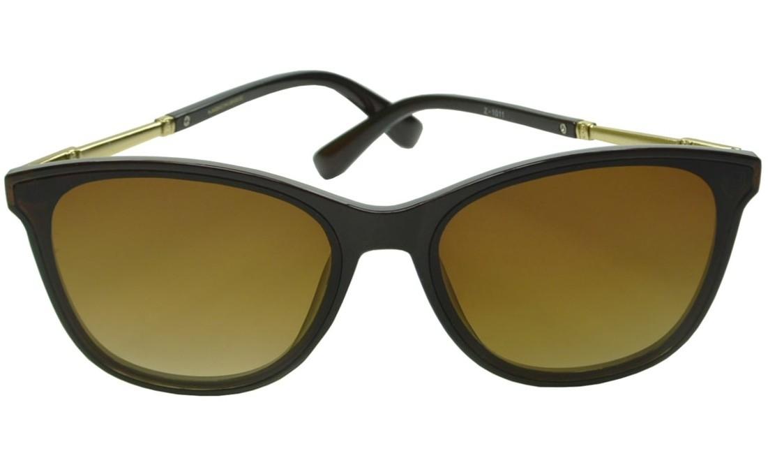 Óculos De Sol Mackage Feminino Acetato Retangular Classic - Marrom