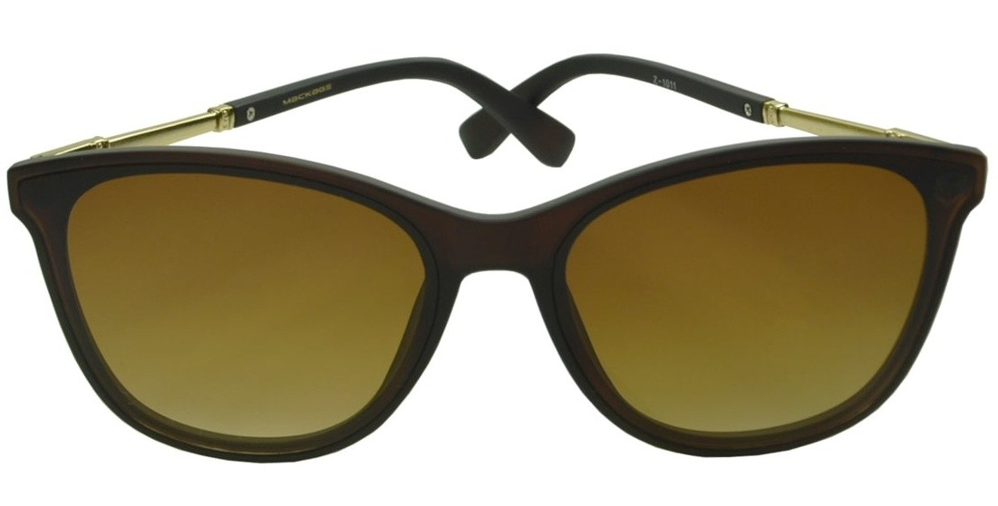 Óculos De Sol Mackage Feminino Acetato Retangular Classic - Marrom Fosco