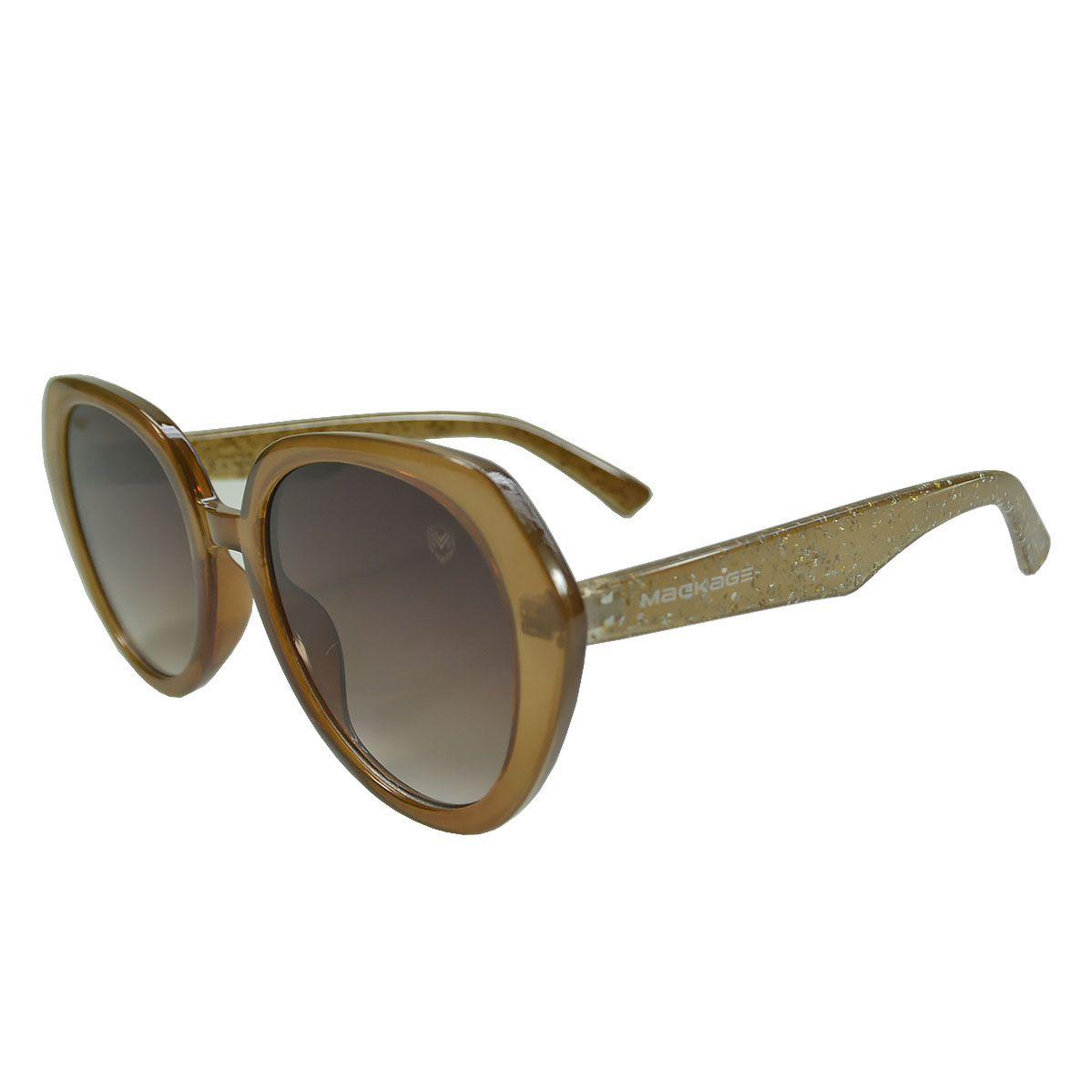 Óculos De Sol Mackage Feminino Acetato Retrô - Branco/Rosa