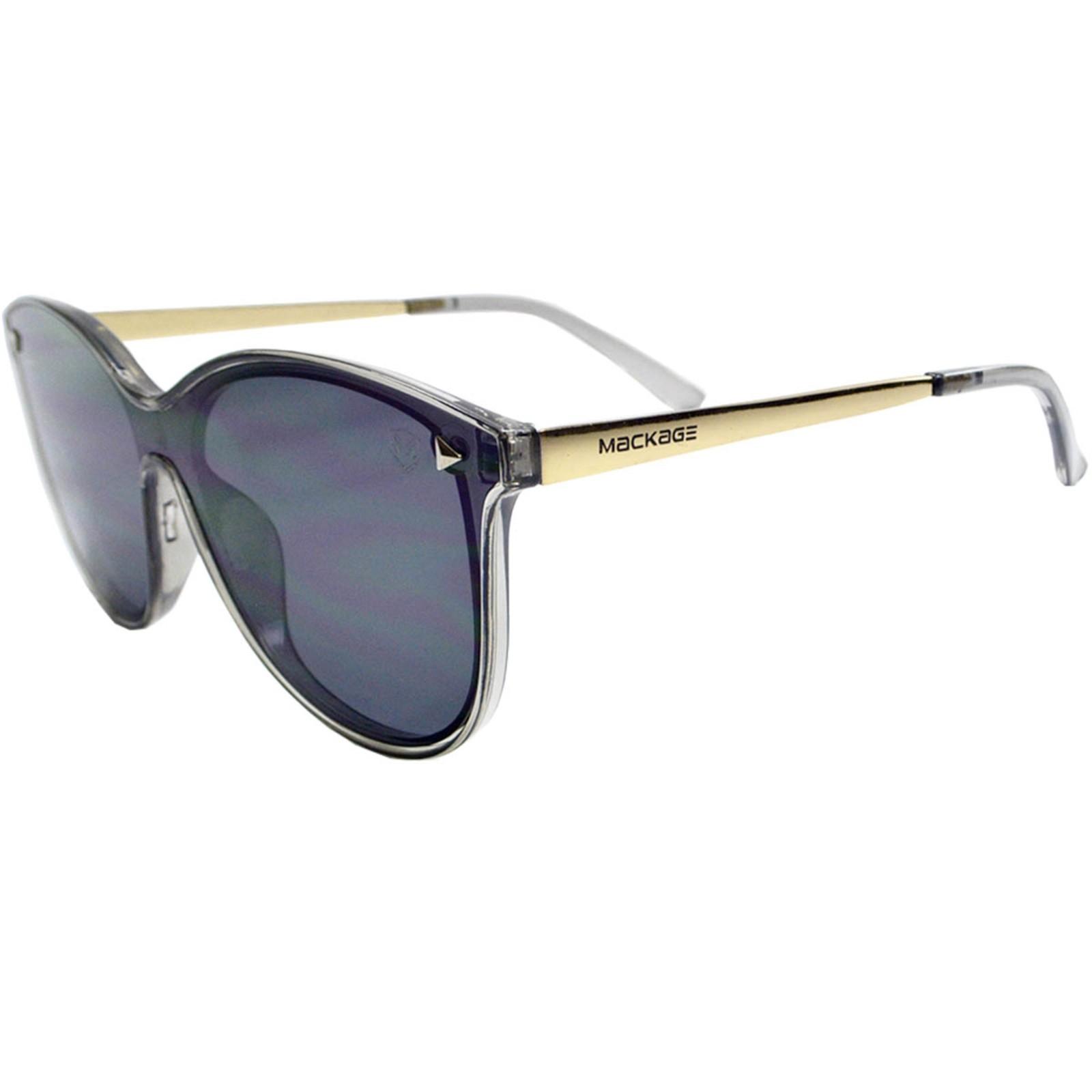 Óculos De Sol Mackage Feminino Acetato Rimless Gateado - Cinza Fumê