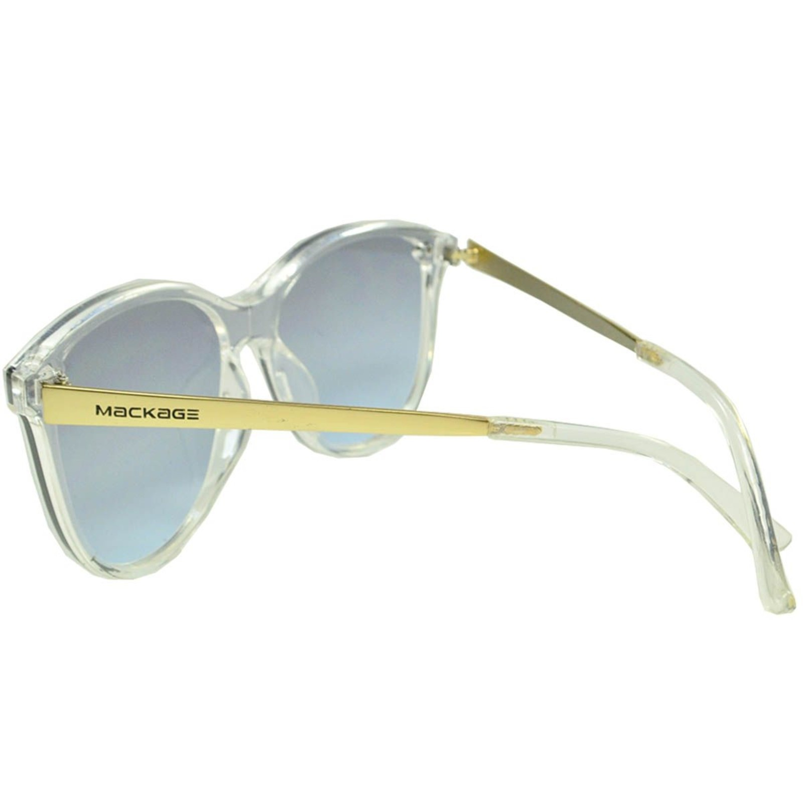 Óculos De Sol Mackage Feminino Acetato Rimless Gateado - Cristal Dourado
