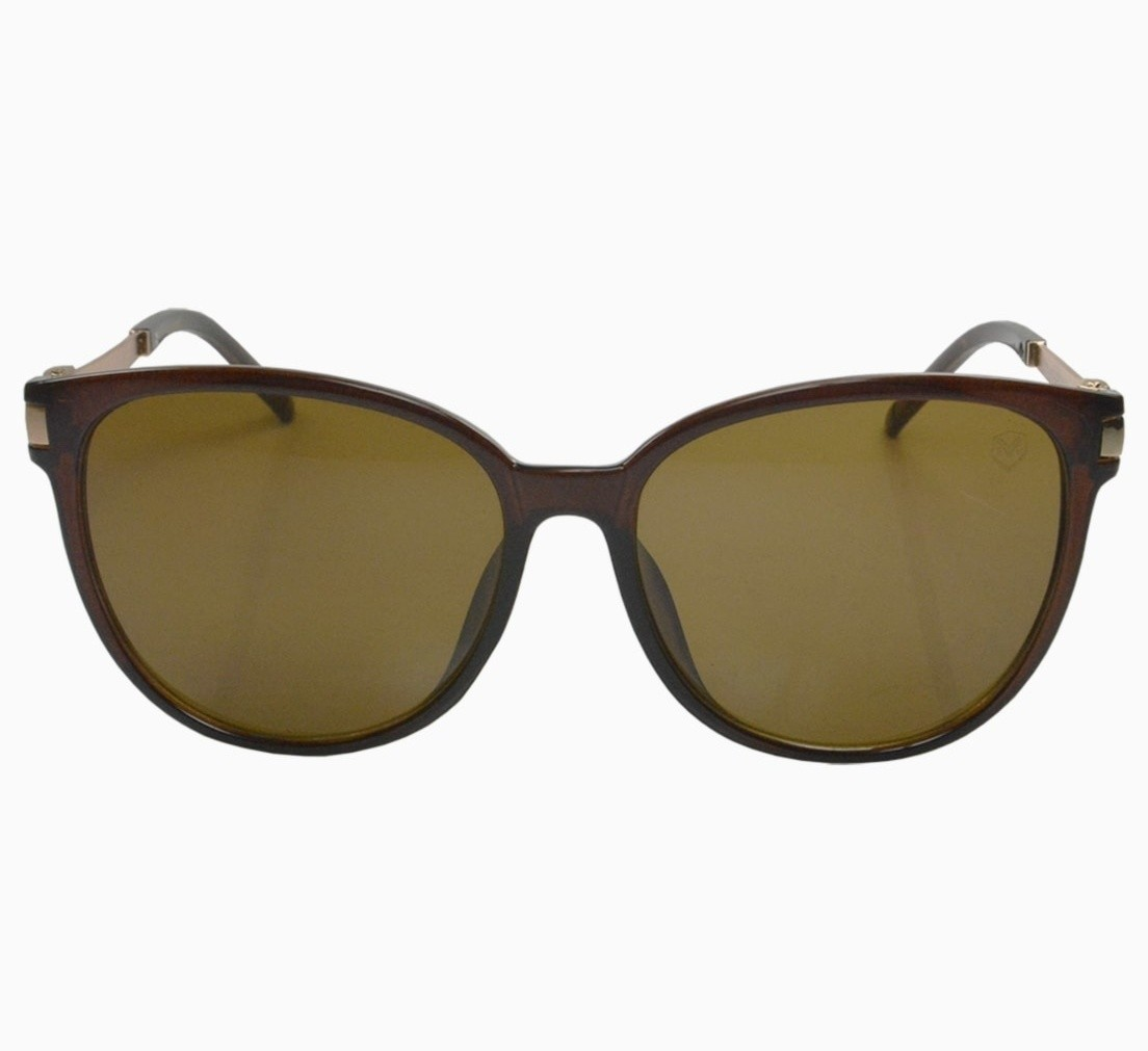 Óculos De Sol Mackage Feminino Acetato Round Classic - Marrom