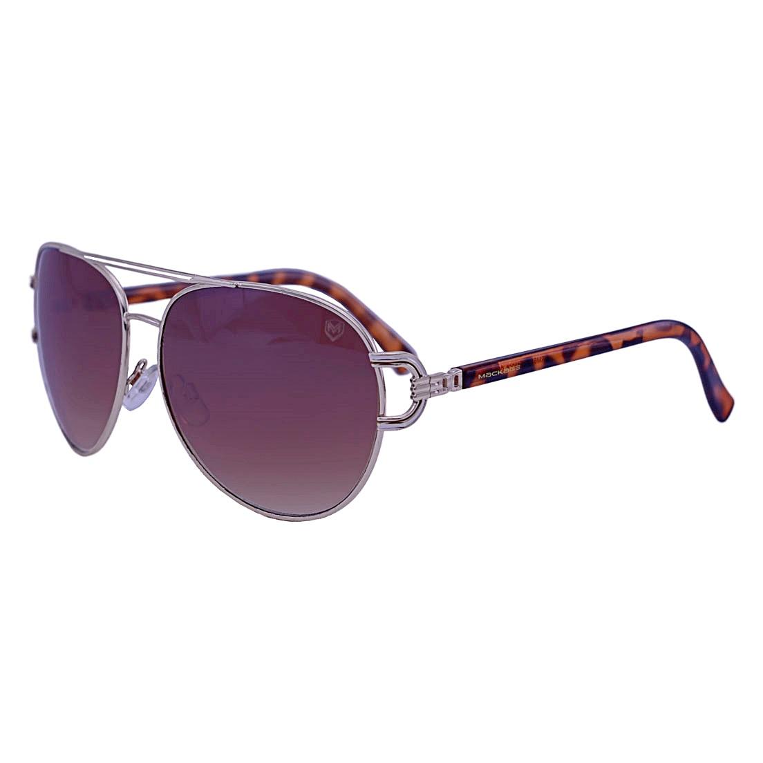 Óculos de Sol Mackage Feminino Metal/Acetato Aviator - Dourado/Tarta