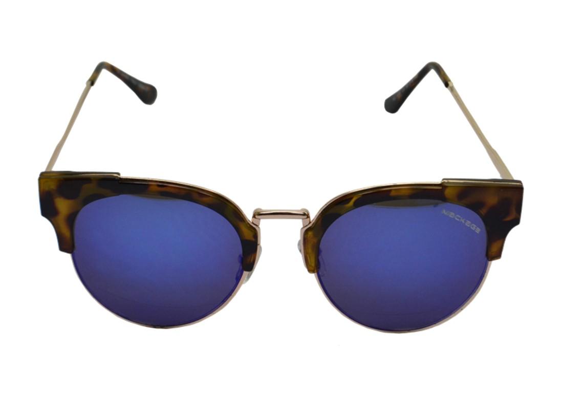 Óculos De Sol Mackage Feminino Metal/Acetato Redondo - Tarta/Dourado