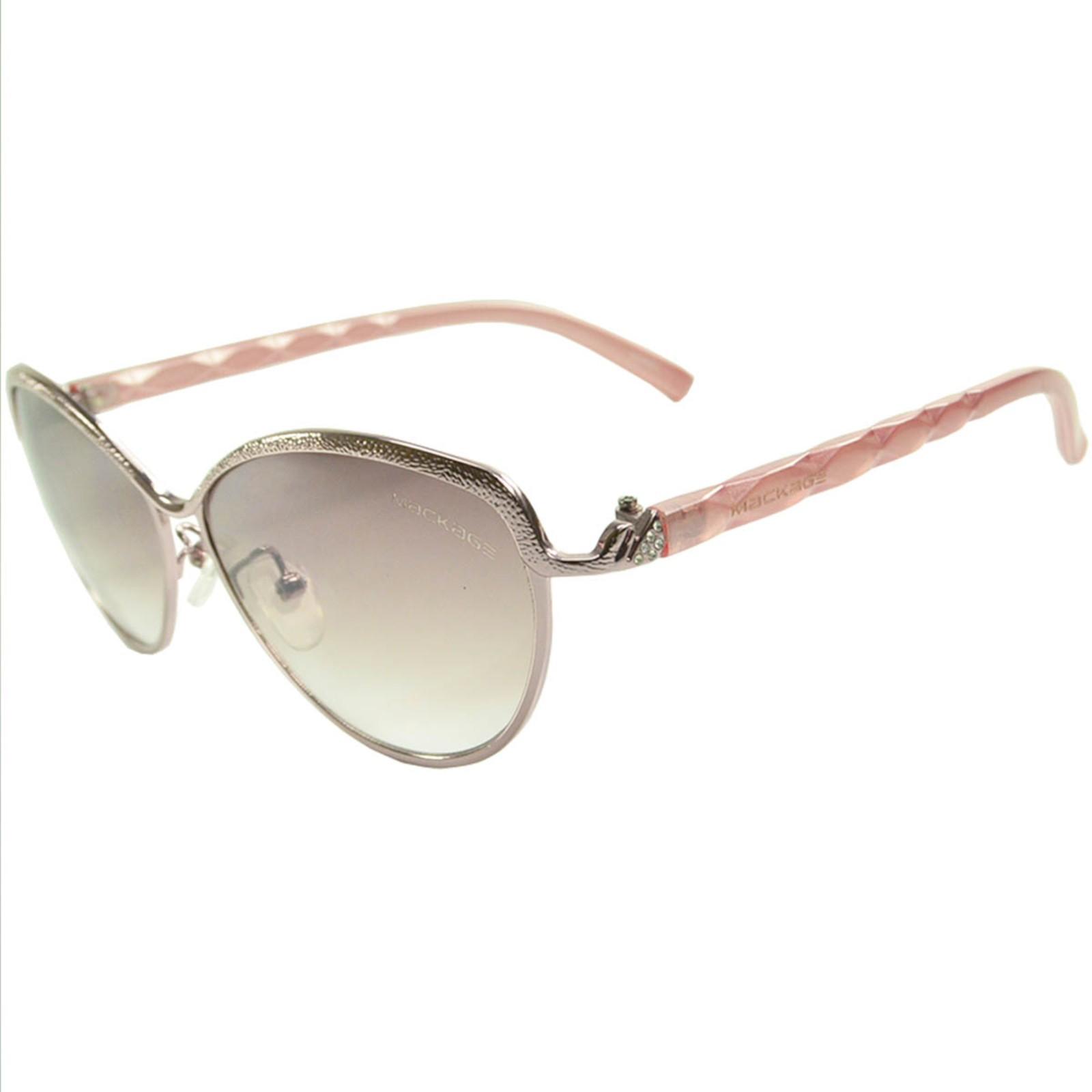 Óculos de Sol Mackage Feminino Metal/Acetato Gateado - Prata/Rosa
