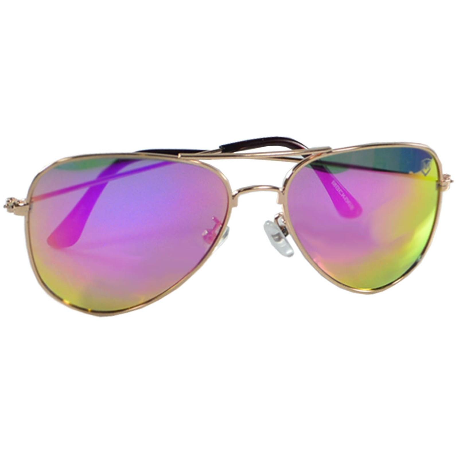 Óculos de Sol Mackage Feminino Metal Aviador Classic - Dourado/Rosa