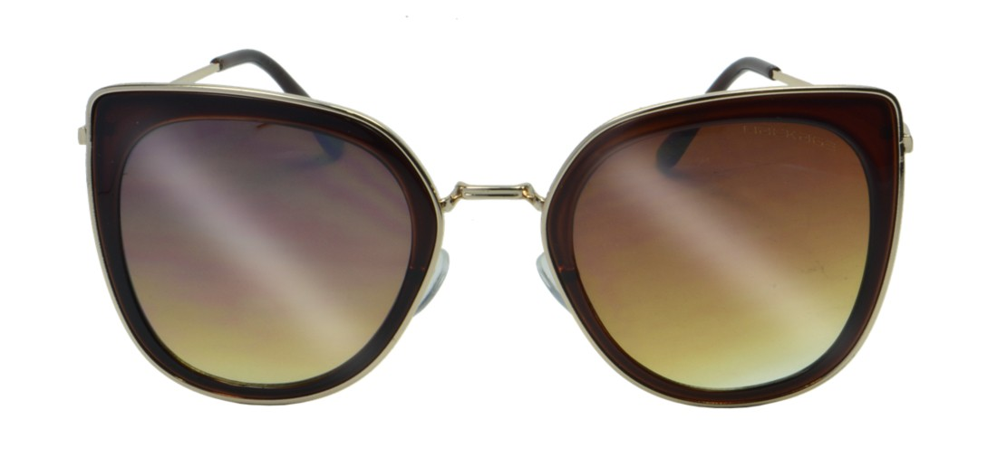 Óculos de Sol Mackage Feminino Metal Gateado - Dourado/Marrom