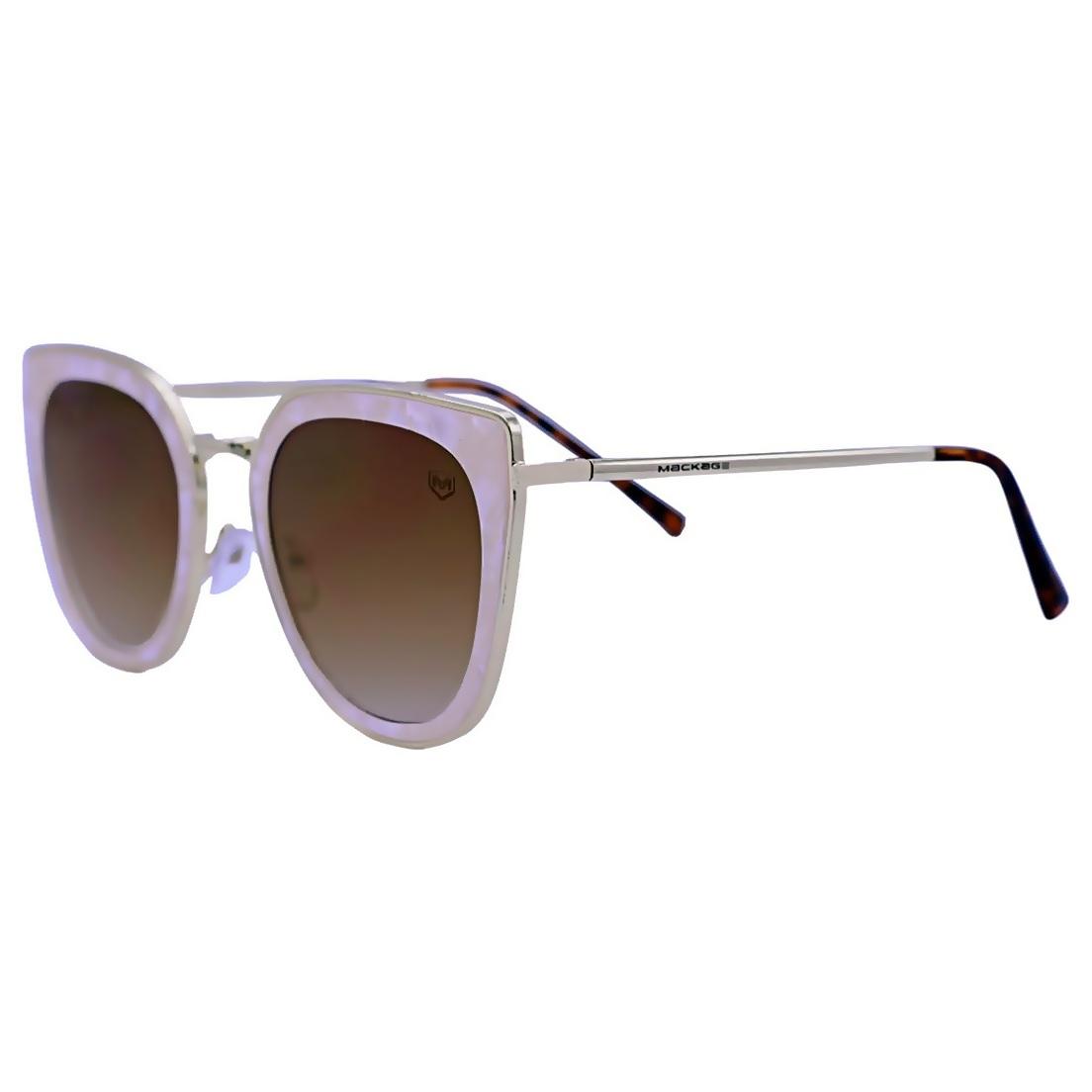 Óculos de Sol Mackage Feminino Metal Gateado - Dourado/Nude
