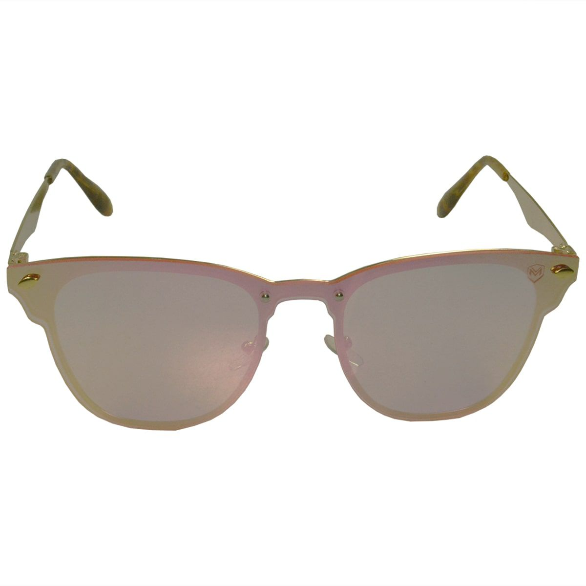 Óculos De Sol Mackage Feminino Metal Gateado Flat - Rose Espelhado