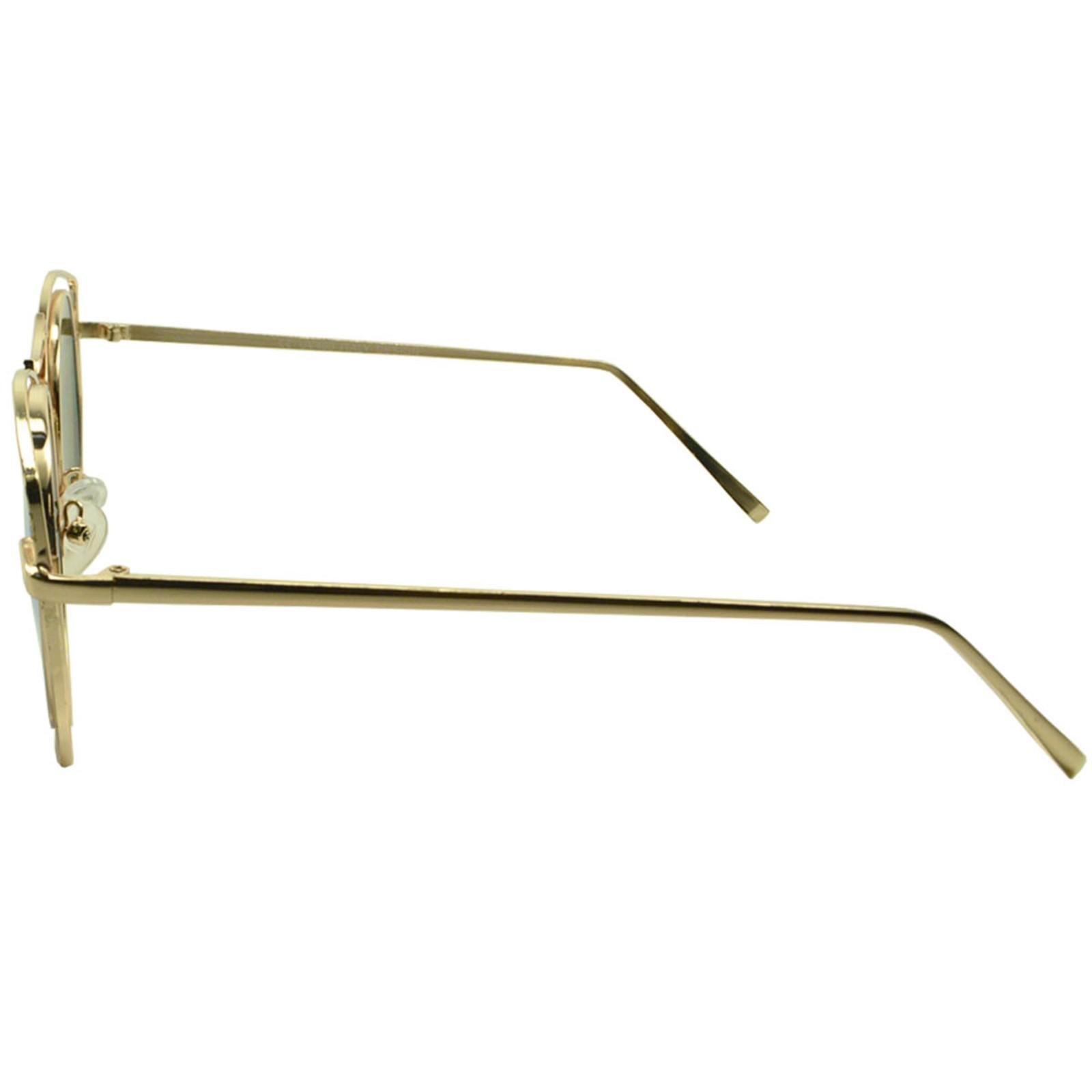 Óculos de Sol Mackage Feminino Metal Geométrico - Dourado