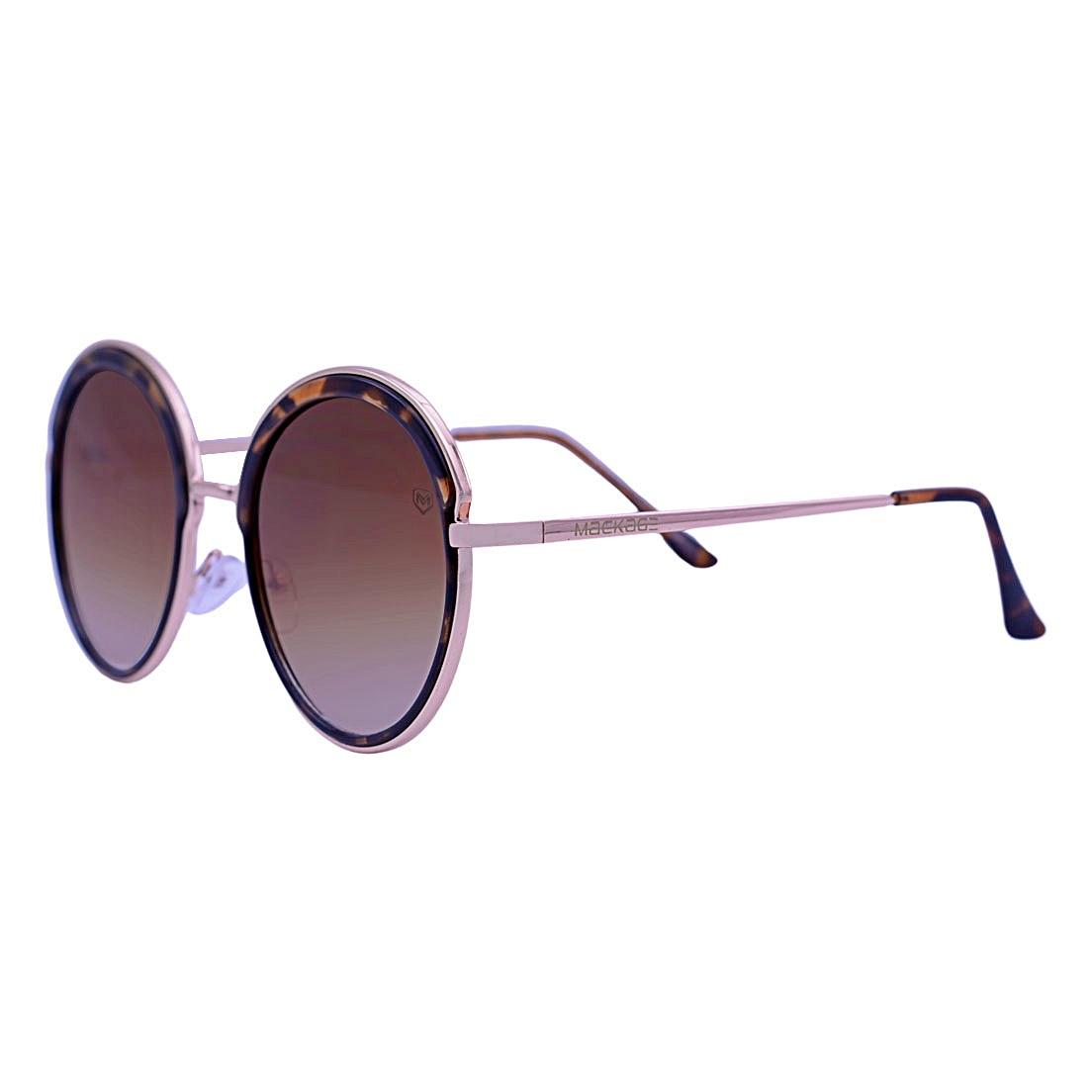Óculos De Sol Mackage Feminino Metal Oversize Redondo