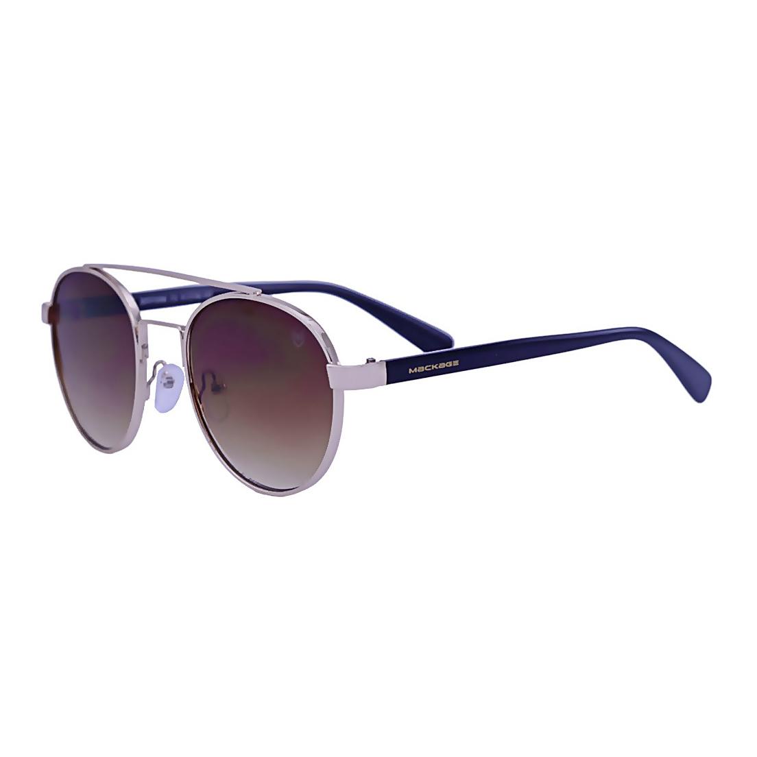 Óculos De Sol Mackage Feminino Metal Redondo - Dourado/Marrom