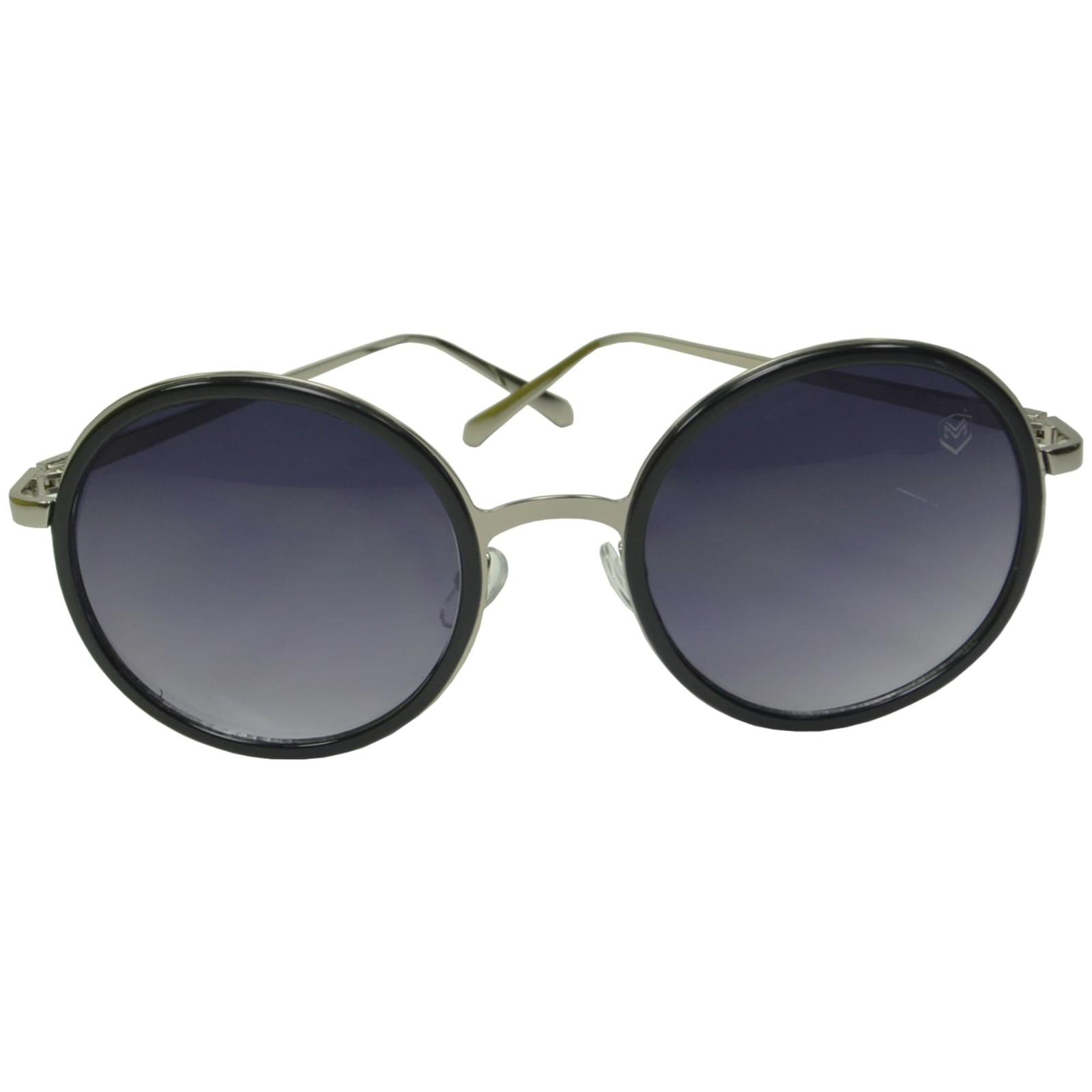 Óculos De Sol Mackage Feminino Metal Redondo - Prata/Preto