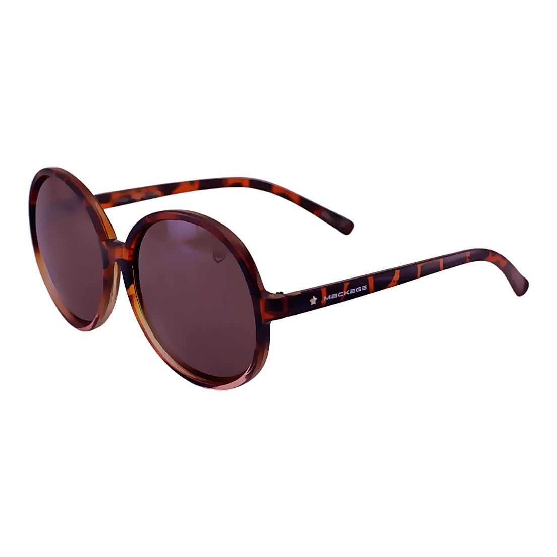 Óculos de Sol Mackage Feminino Oversize Redondo - Tartaruga
