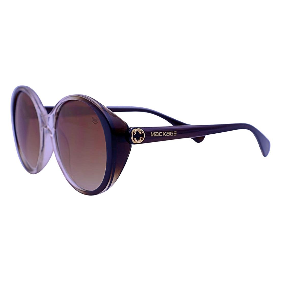 Óculos De Sol Mackage Feminino Oversize Retro - Marrom/Cristal
