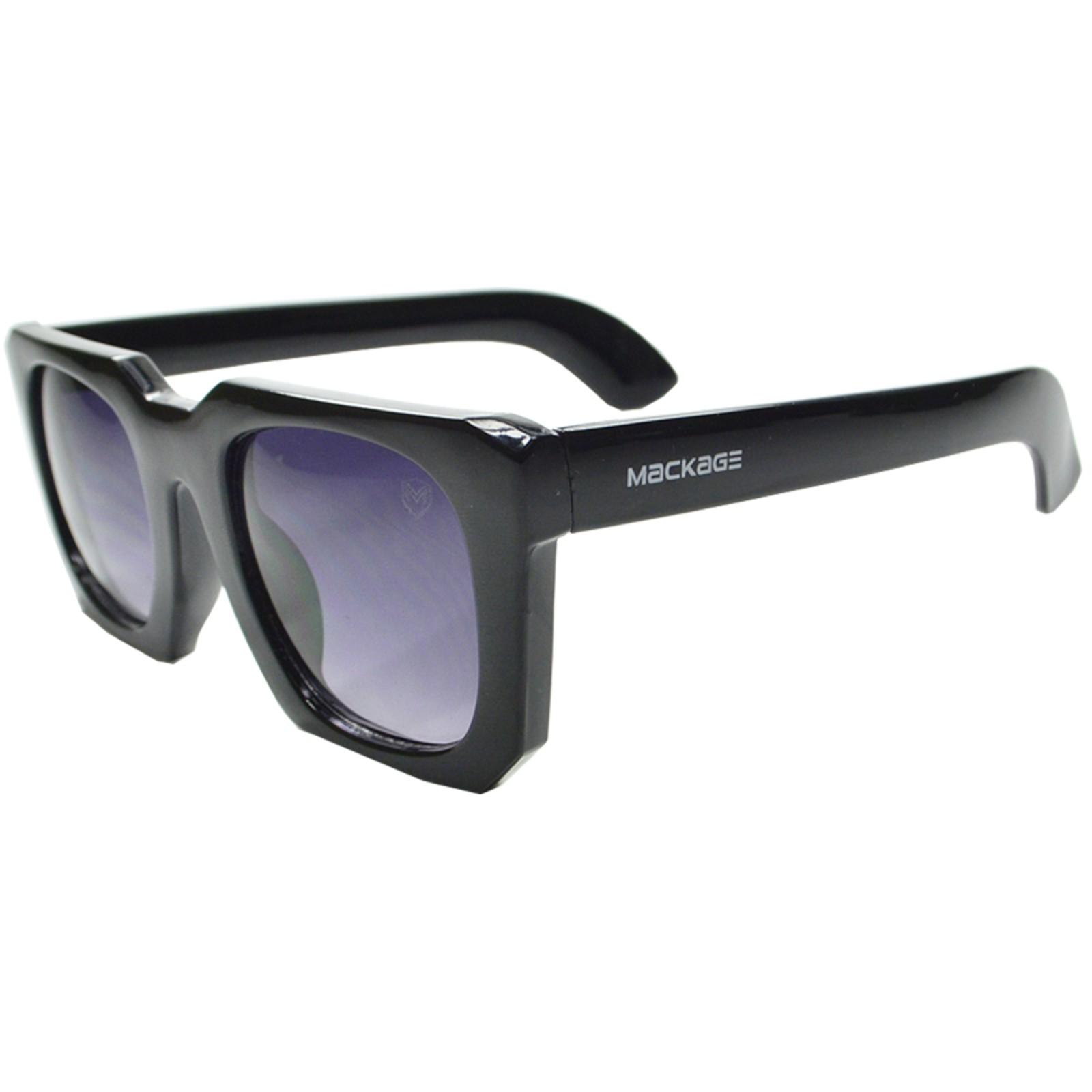 Óculos De Sol Mackage Feminino Quadrado Retrô - Preto