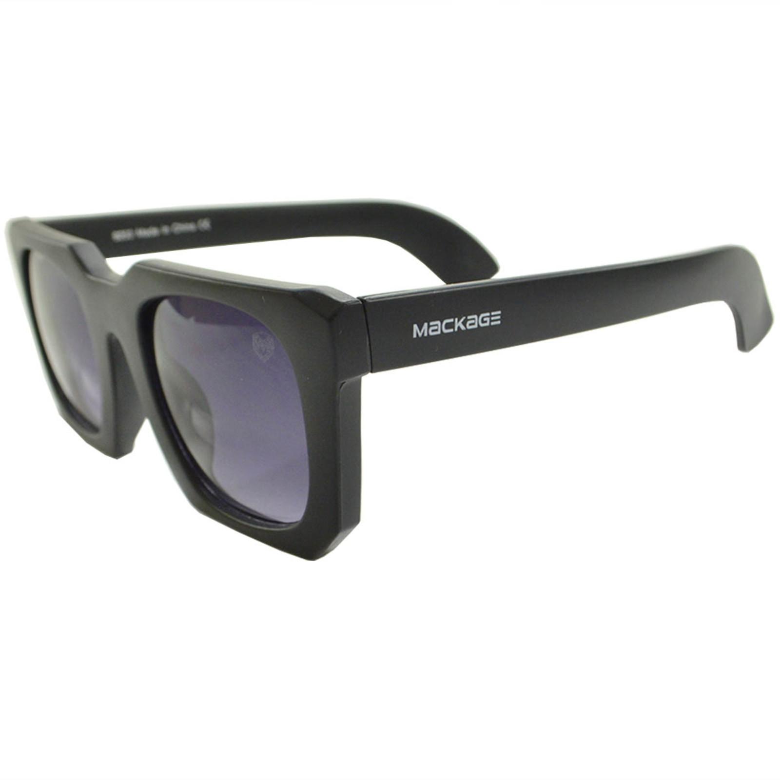 Óculos De Sol Mackage Feminino Quadrado Retrô - Preto Fosco