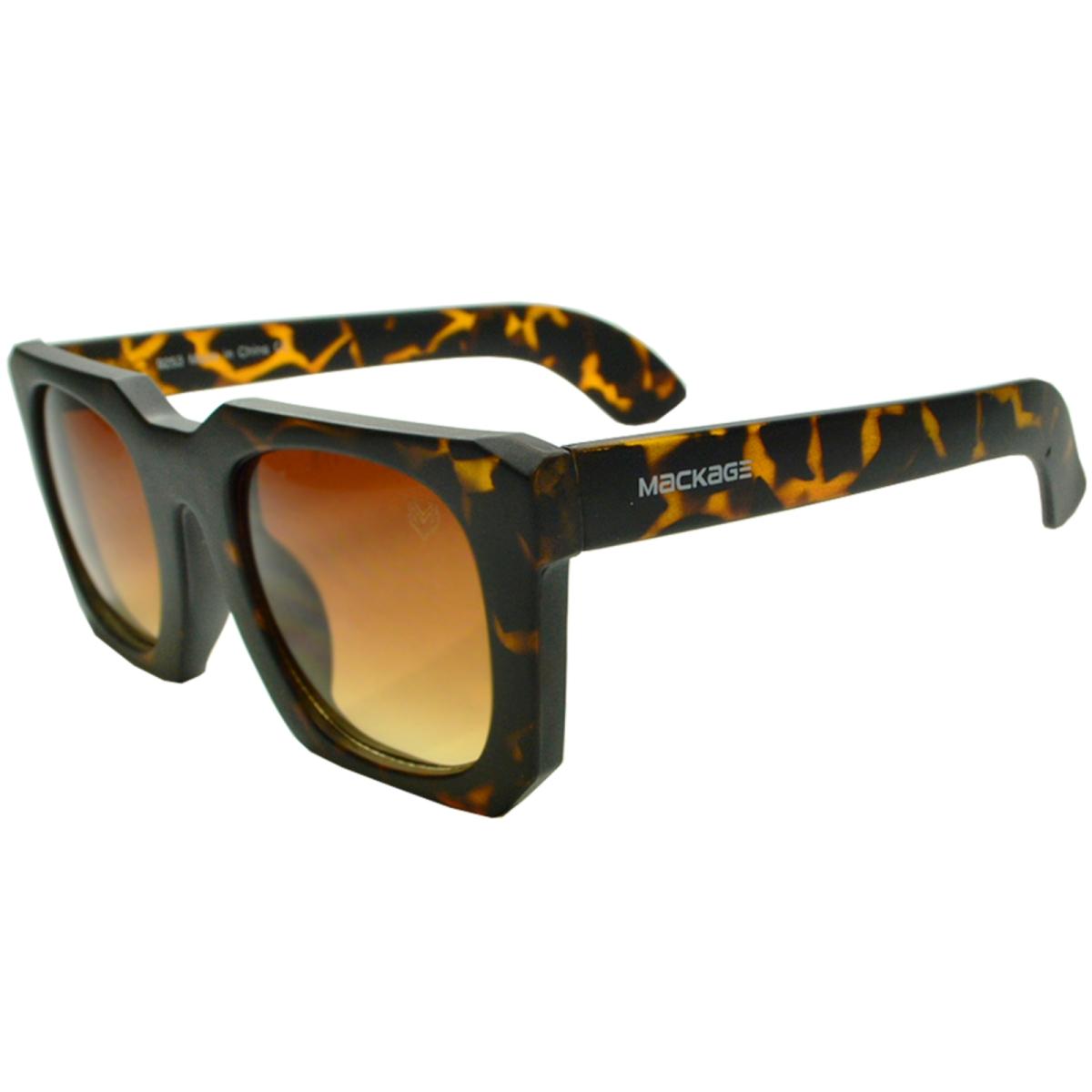 Óculos De Sol Mackage Feminino Quadrado Retrô - Tartaruga