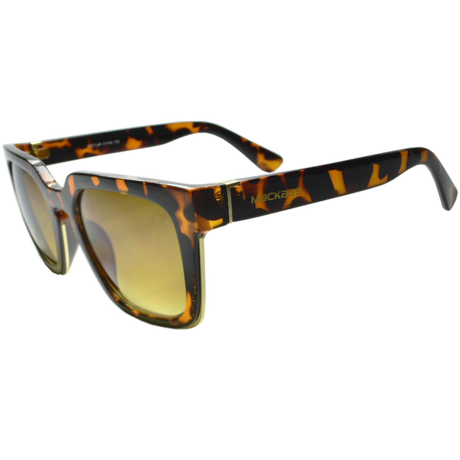 Óculos De Sol Mackage Feminino Retangular Oversize Retrô - Tartaruga