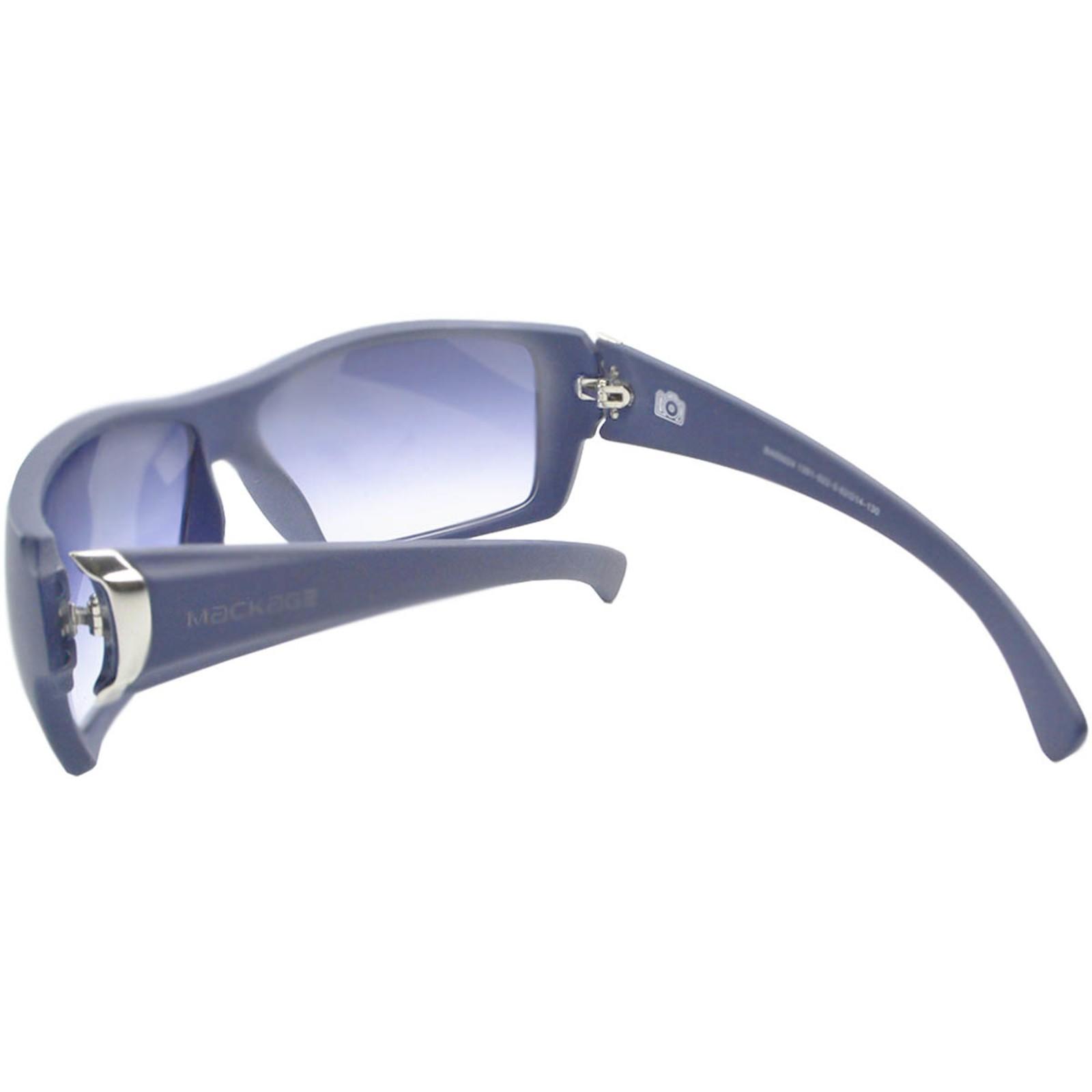 Óculos de Sol Mackage Masculino Acetato Esportivo Curvado - Azul