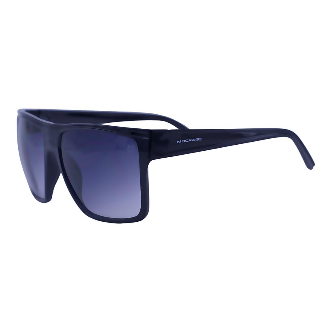 Óculos De Sol Mackage Masculino Acetato Esportivo Curvado - Preto