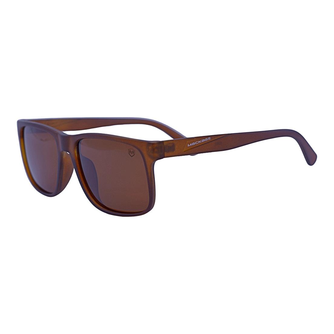 Óculos de Sol Mackage Masculino Acetato Esportivo Marrom - Polarizado