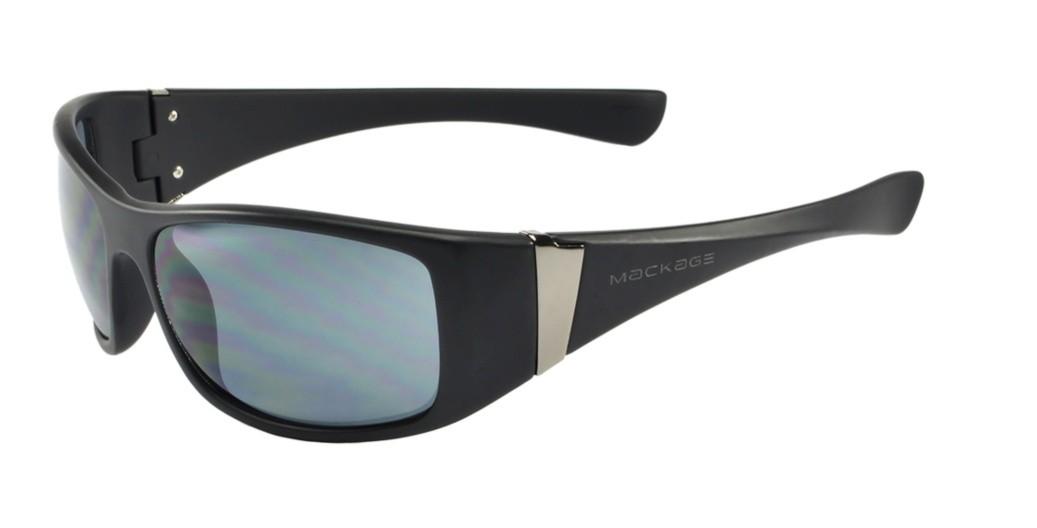 Óculos de Sol Mackage Masculino Acetato Esportivo - Preto Fosco