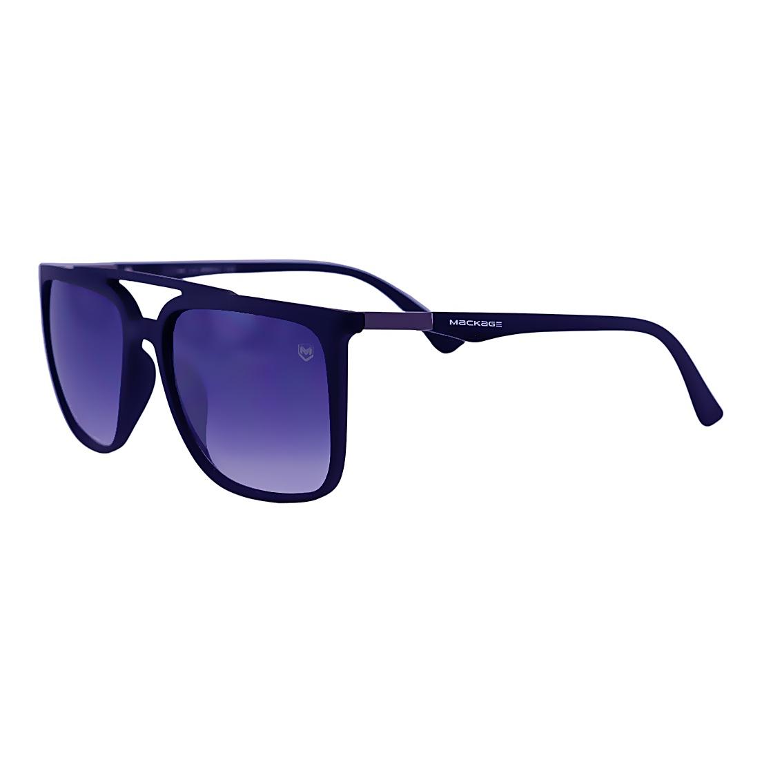 Óculos De Sol Mackage Masculino Acetato Retangular - Preto Fosco