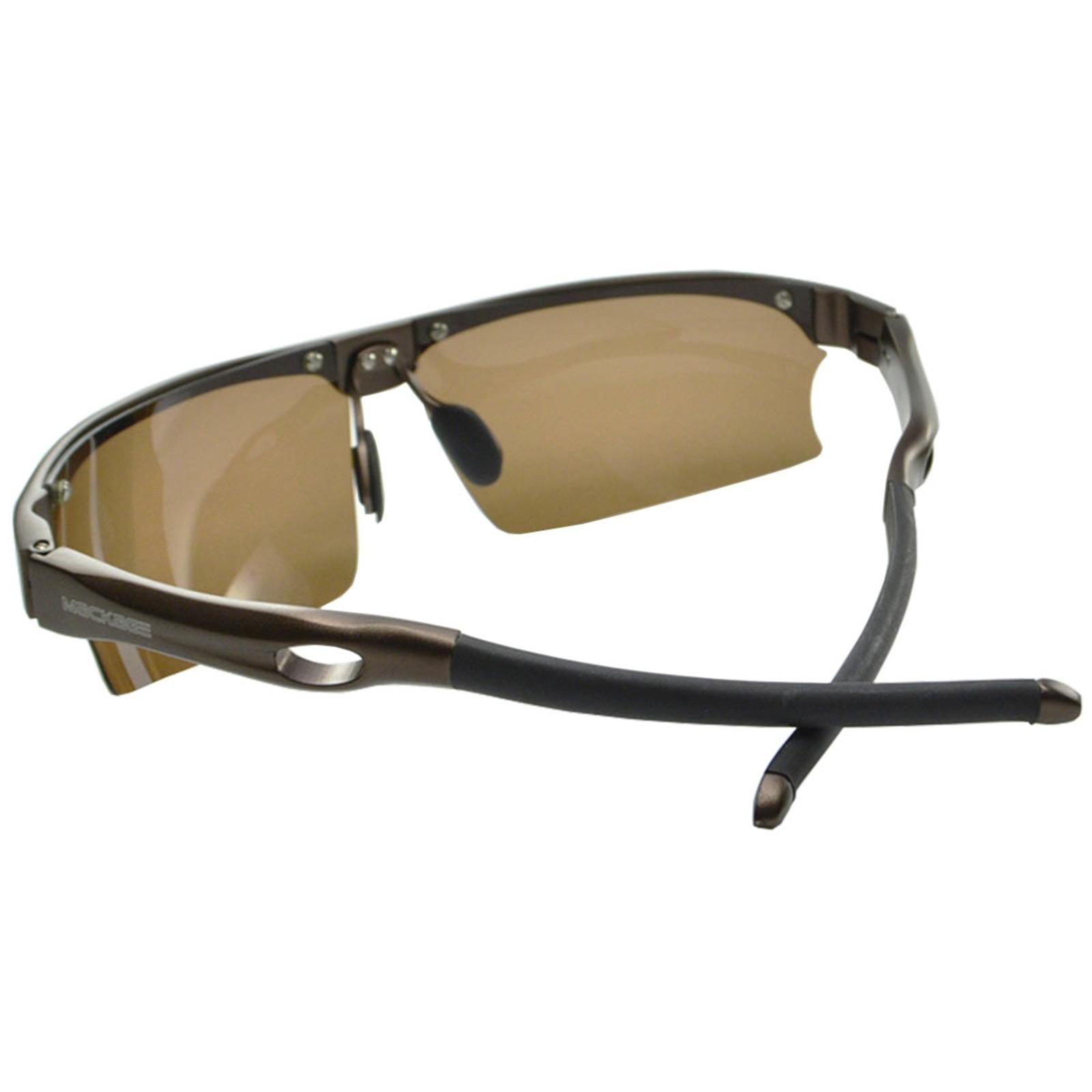 Óculos De Sol Mackage Masculino Alumínio Polarizado Esportivo - Marrom