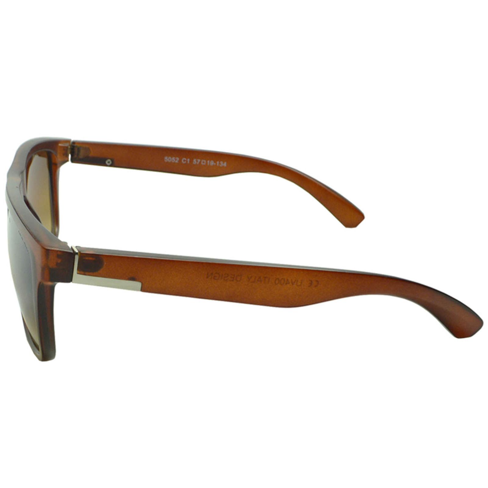 Óculos De Sol Mackage Masculino Esportivo Acetato Retangular - Marrom