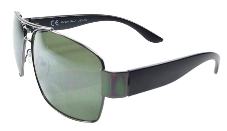 Óculos De Sol Mackage  Masculino Metal/Acetato Aviator Retangular - Grafite