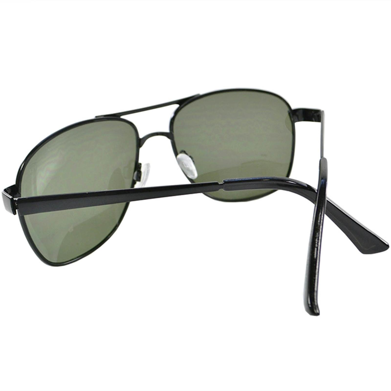 Óculos de Sol Mackage Masculino Metal Aviador - Grafite/Verde