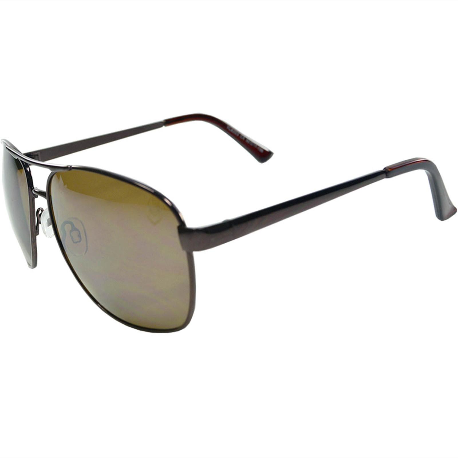 Óculos de Sol Mackage Masculino Metal Aviador - Marrom