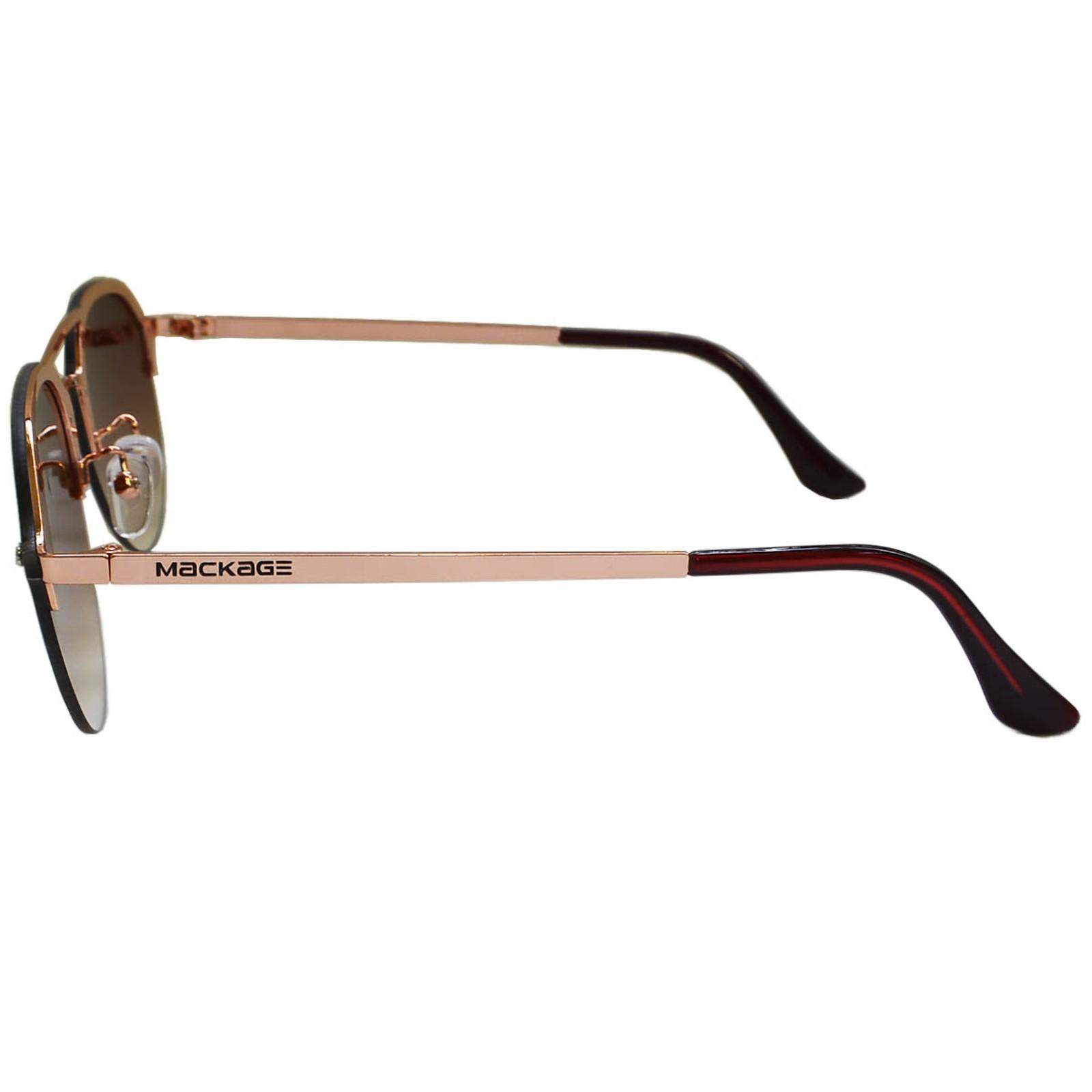 Óculos De Sol Mackage Masculino Metal Aviator Rimless - Marrom