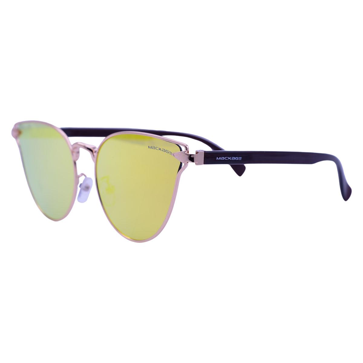 Óculos de Sol Mackage Metal/Acetato Feminino Gateado - Dourado