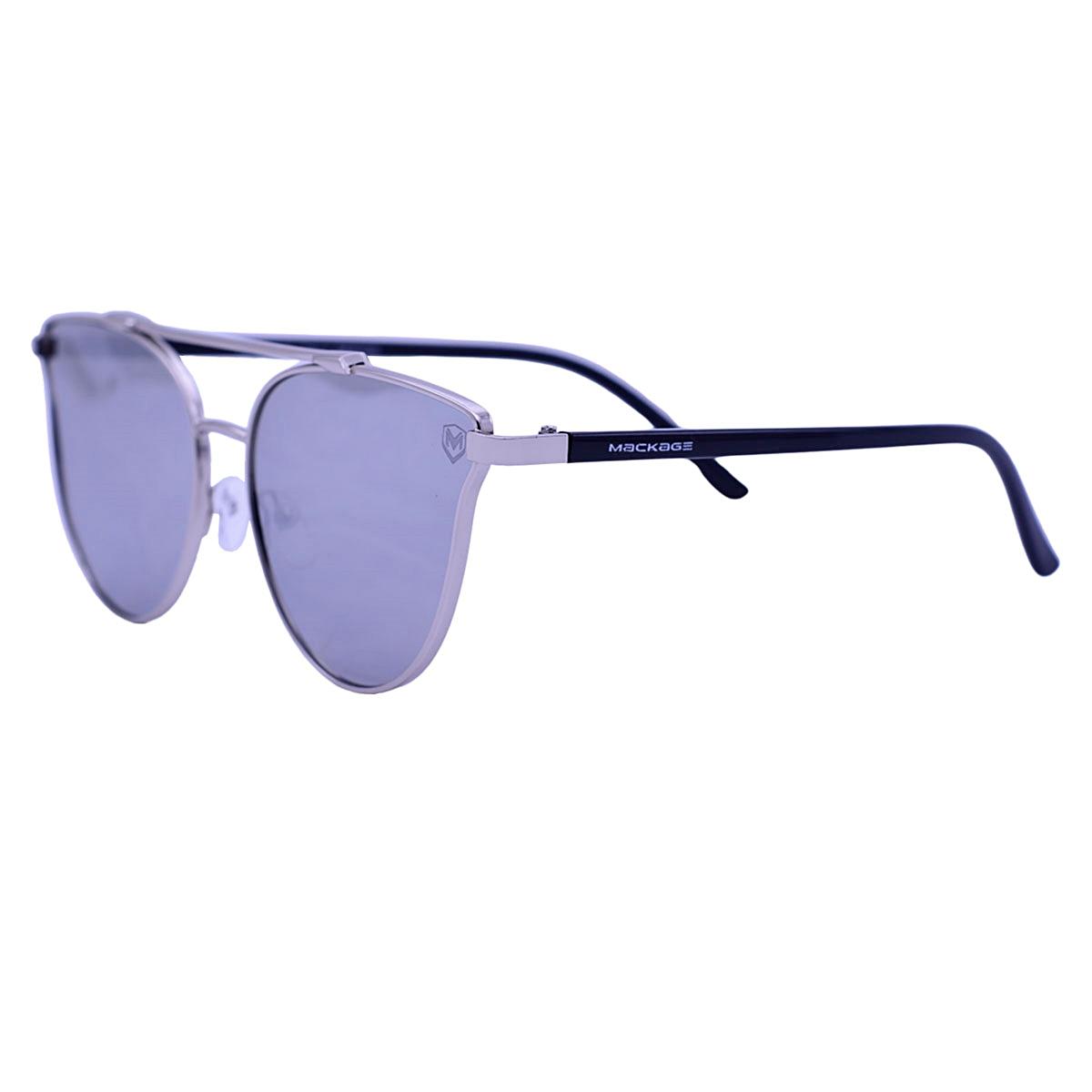 Óculos de Sol Mackage Metal/Acetato Feminino Gateado - Dourado/Prata