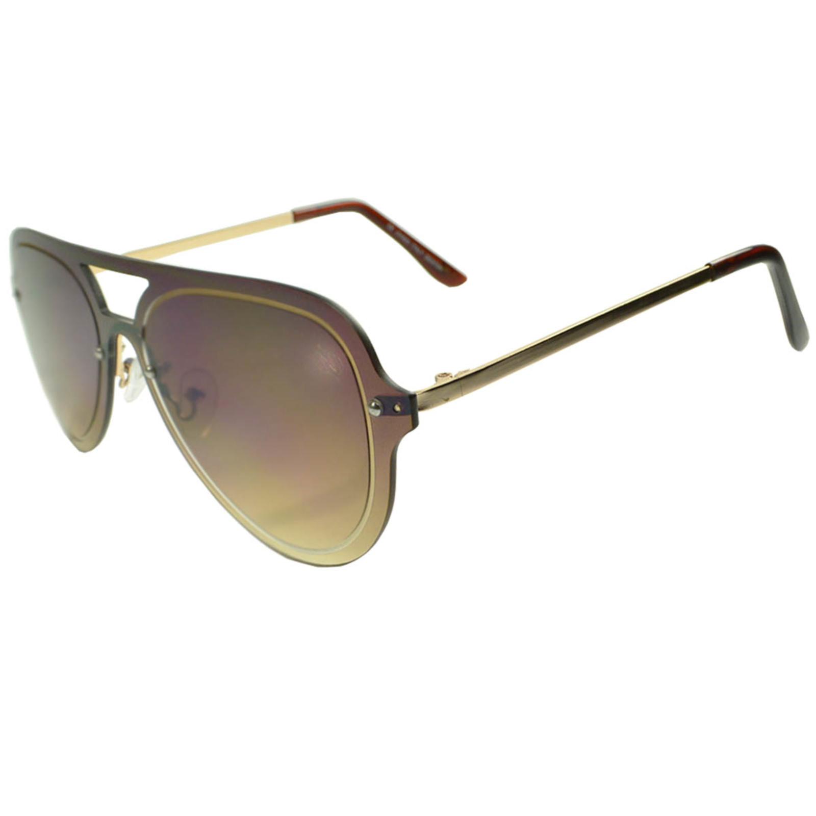 Óculos De Sol Mackage Unissex Aviador Rimless - Marrom