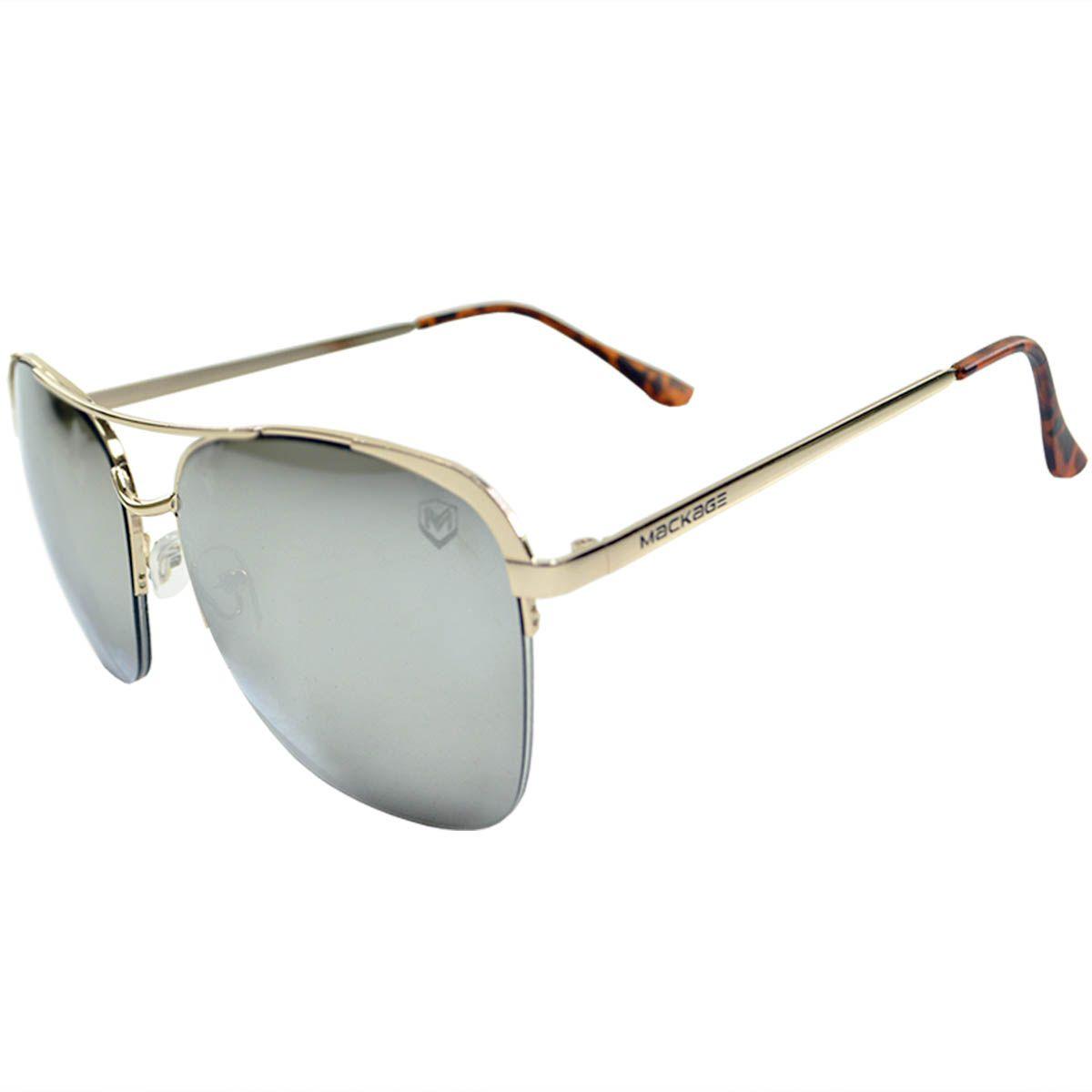 Óculos De Sol Mackage Aviador Mk1010-4 Prata - OUTLET / PEQUENOS DEFEITOS