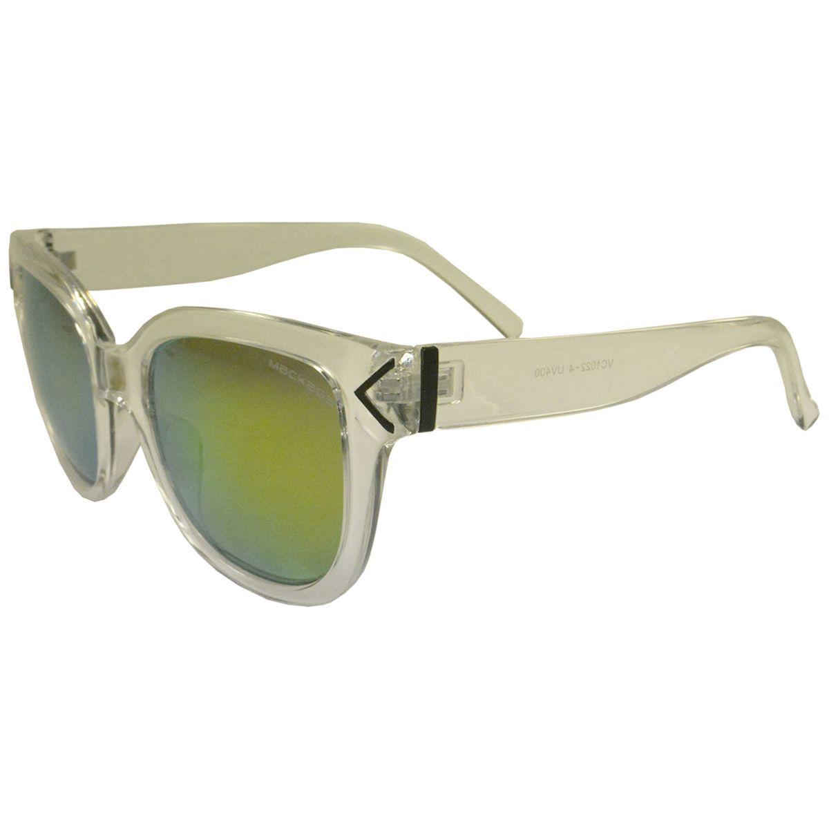 Óculos de Sol Mackage Unissex Acetato Esportivo Retangular - Gelo