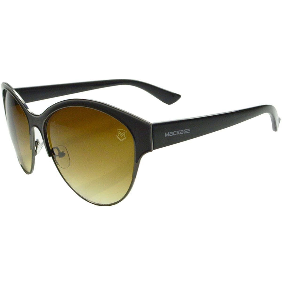 Óculos De Sol Mackage Feminino Metal/Acetato Redondo - Marrom