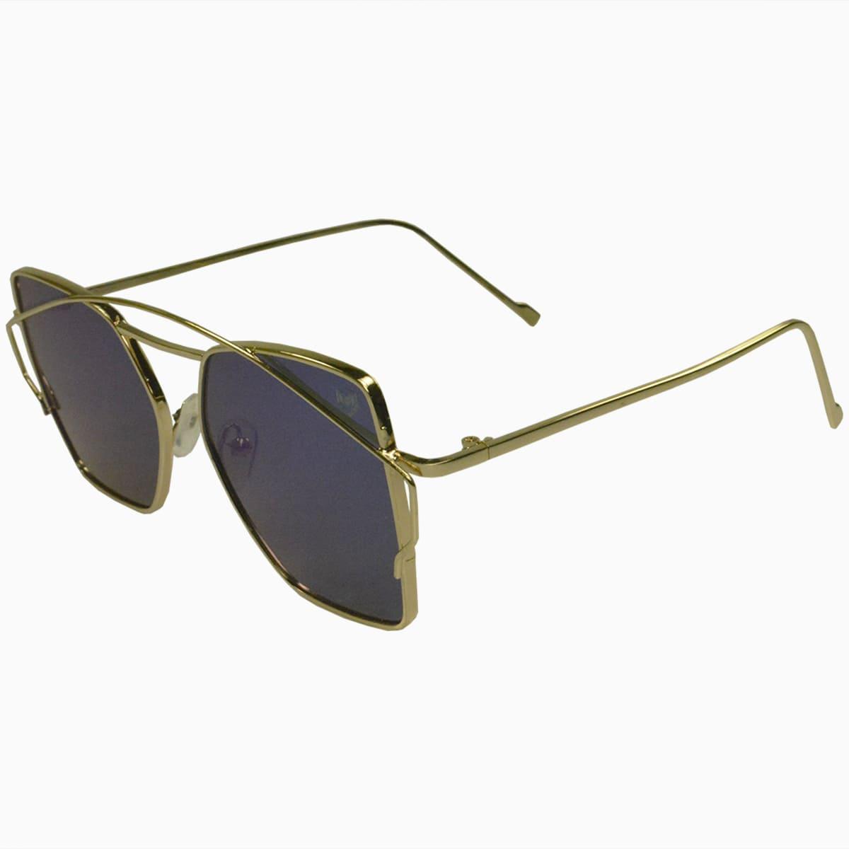 Óculos de Sol Mackage Unissex Metal Quadrado Geométrico - Dourado
